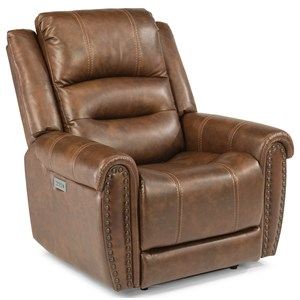 Flexsteel Latitudes - Oscar Power Recliner with Power Headrest