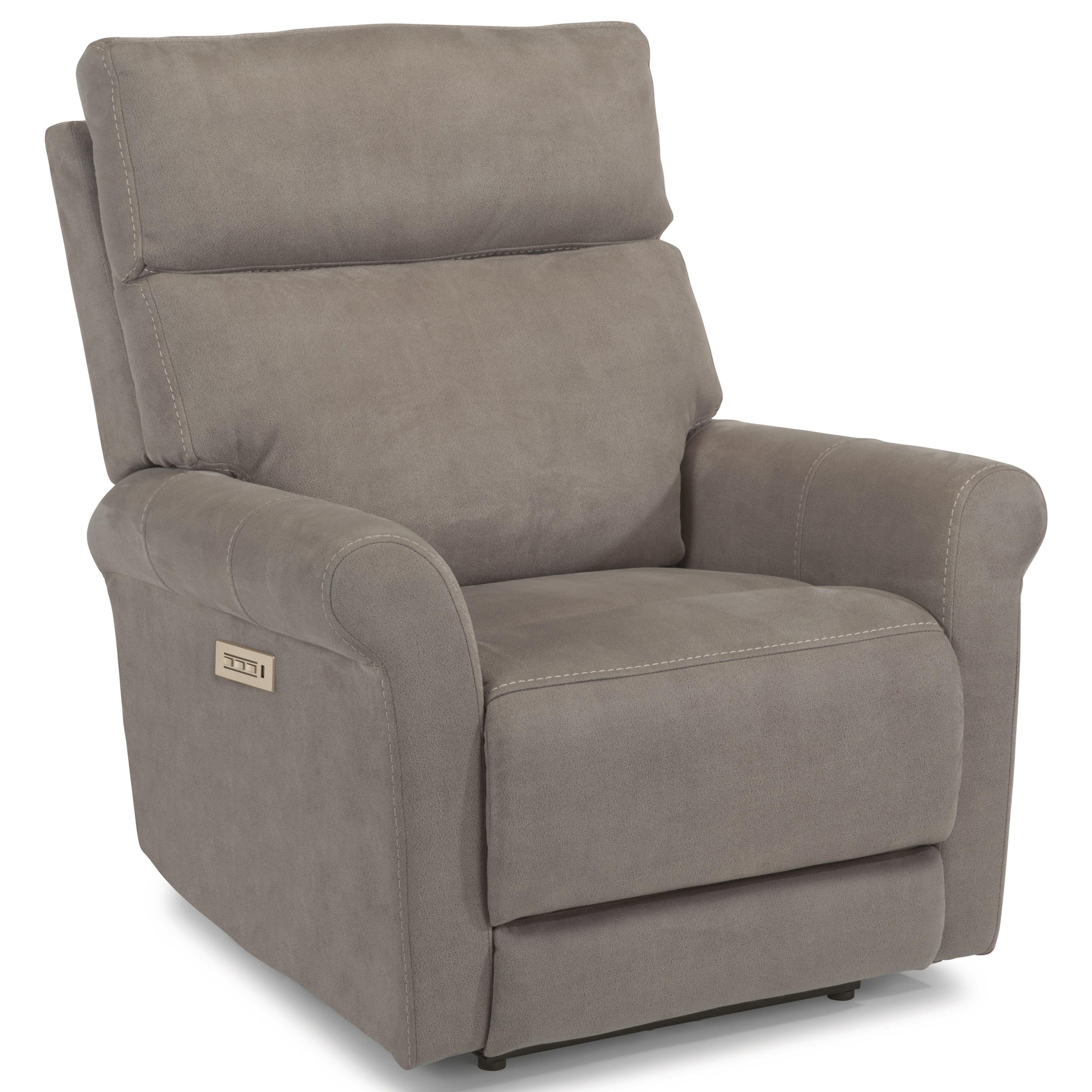Flexsteel Electric Sofa: Owen Contemporary Power Recliner