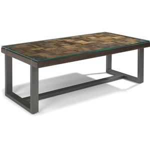 Flexsteel Patchwork Rectangle Cocktail Table