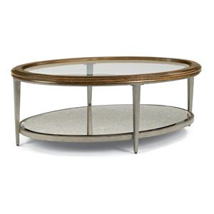 Flexsteel Patina Oval Cocktail Table