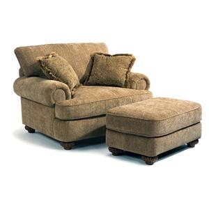 Flexsteel Patterson  Chair and Ottoman