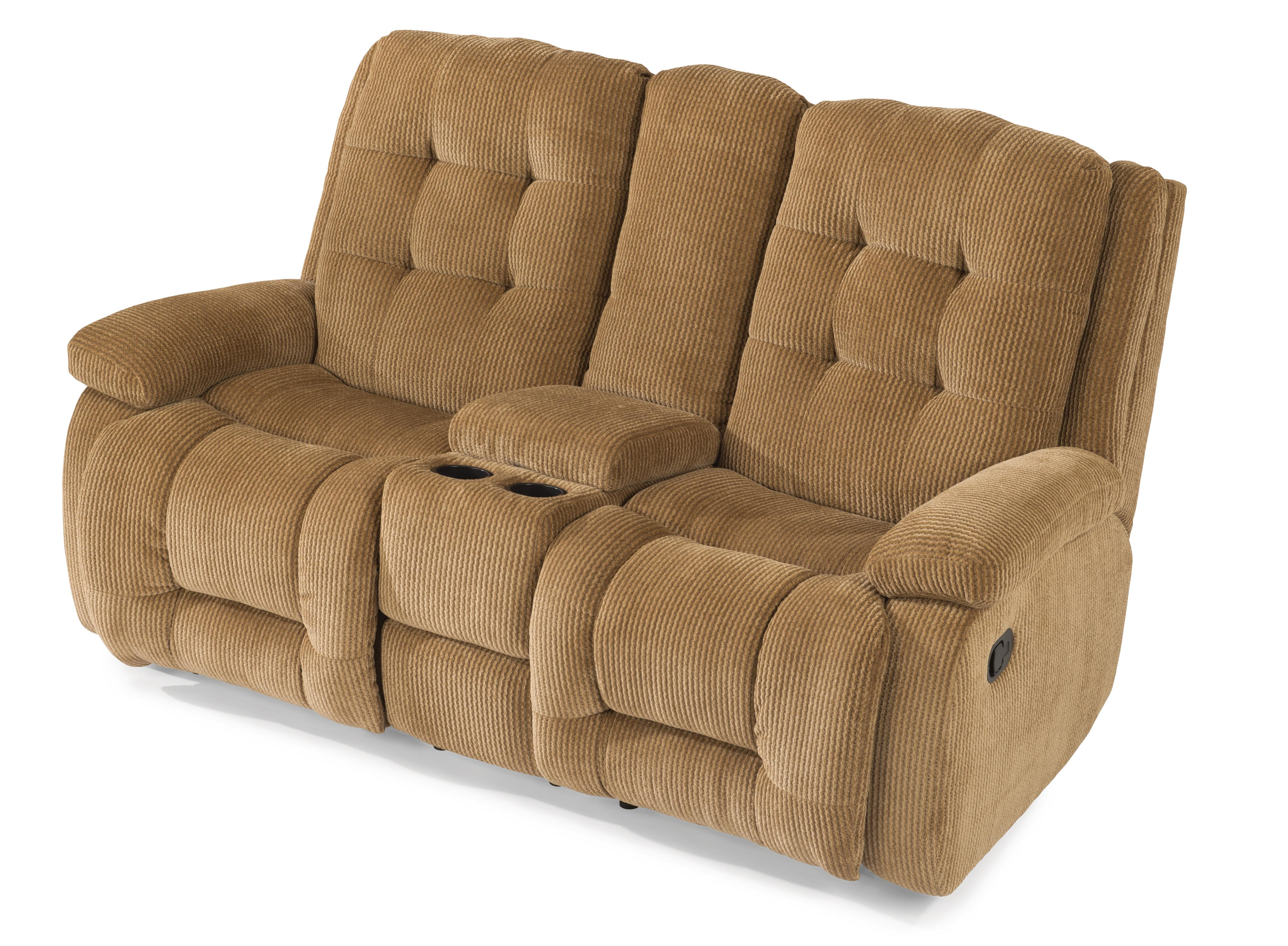 Flexsteel Paxton Reclining Loveseat w/ Console - Item Number: 4882-601-811-90