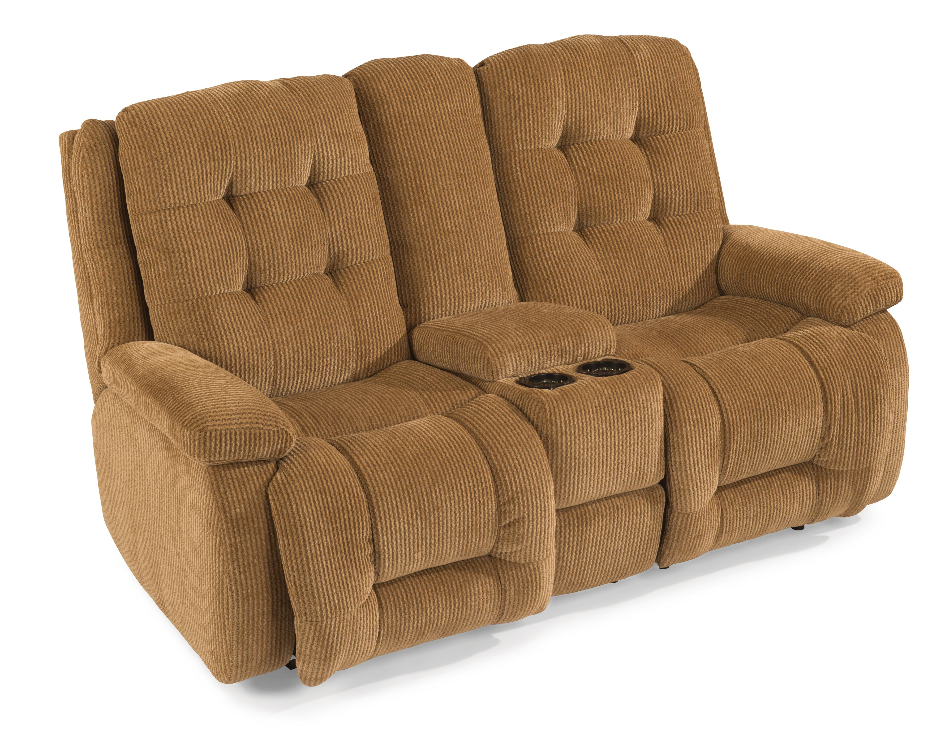 Flexsteel Paxton Power Reclining Loveseat w/ Console - Item Number: 4882-601M-811-90