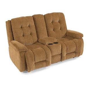 Flexsteel Paxton Power Reclining Loveseat w/ Console