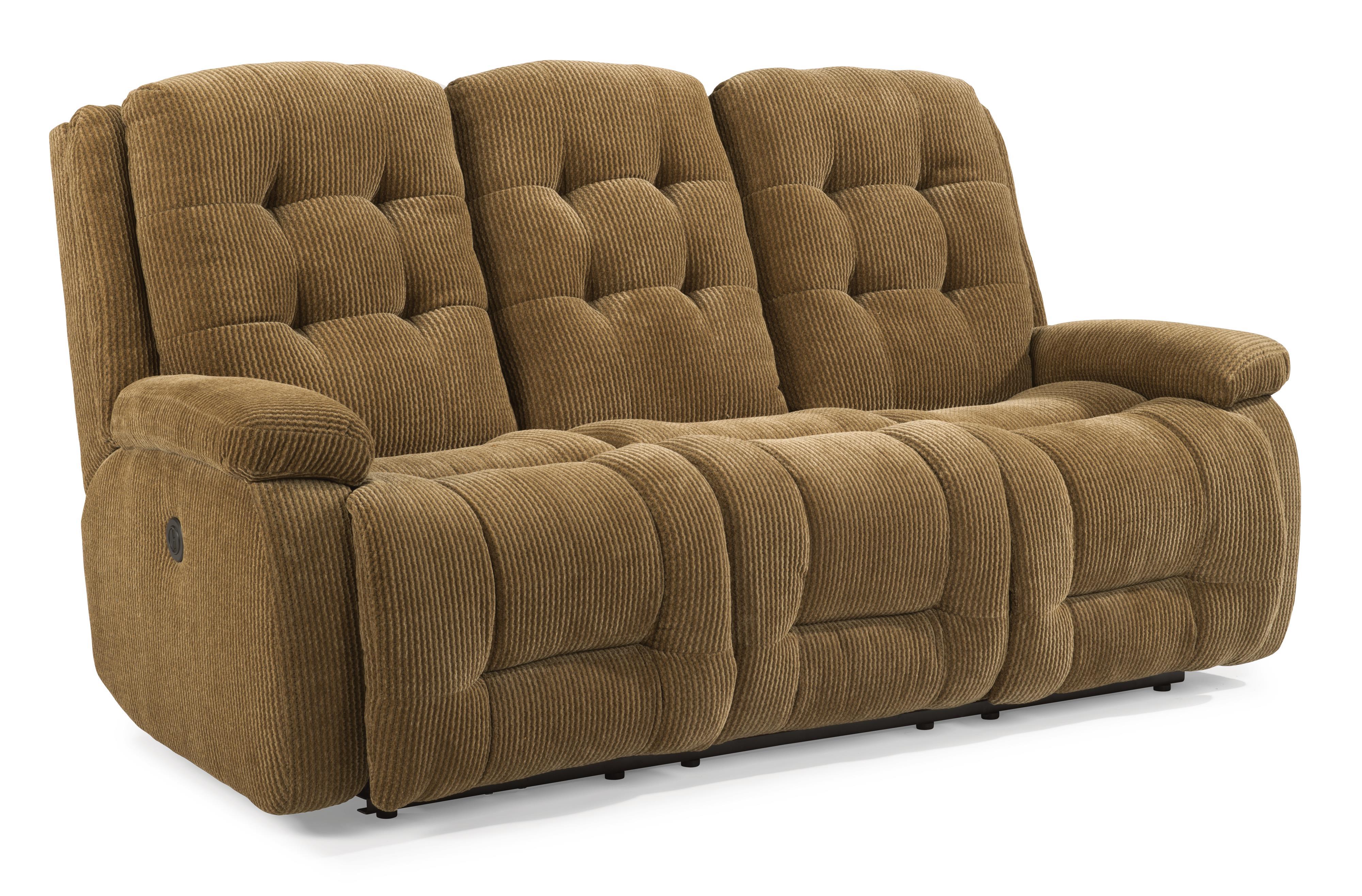 Flexsteel Paxton Power Reclining Sofa - Item Number: 4882-62M-811-90