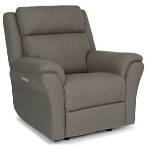 Flexsteel Latitudes-Pike Power Gliding Recliner with Power Headrest