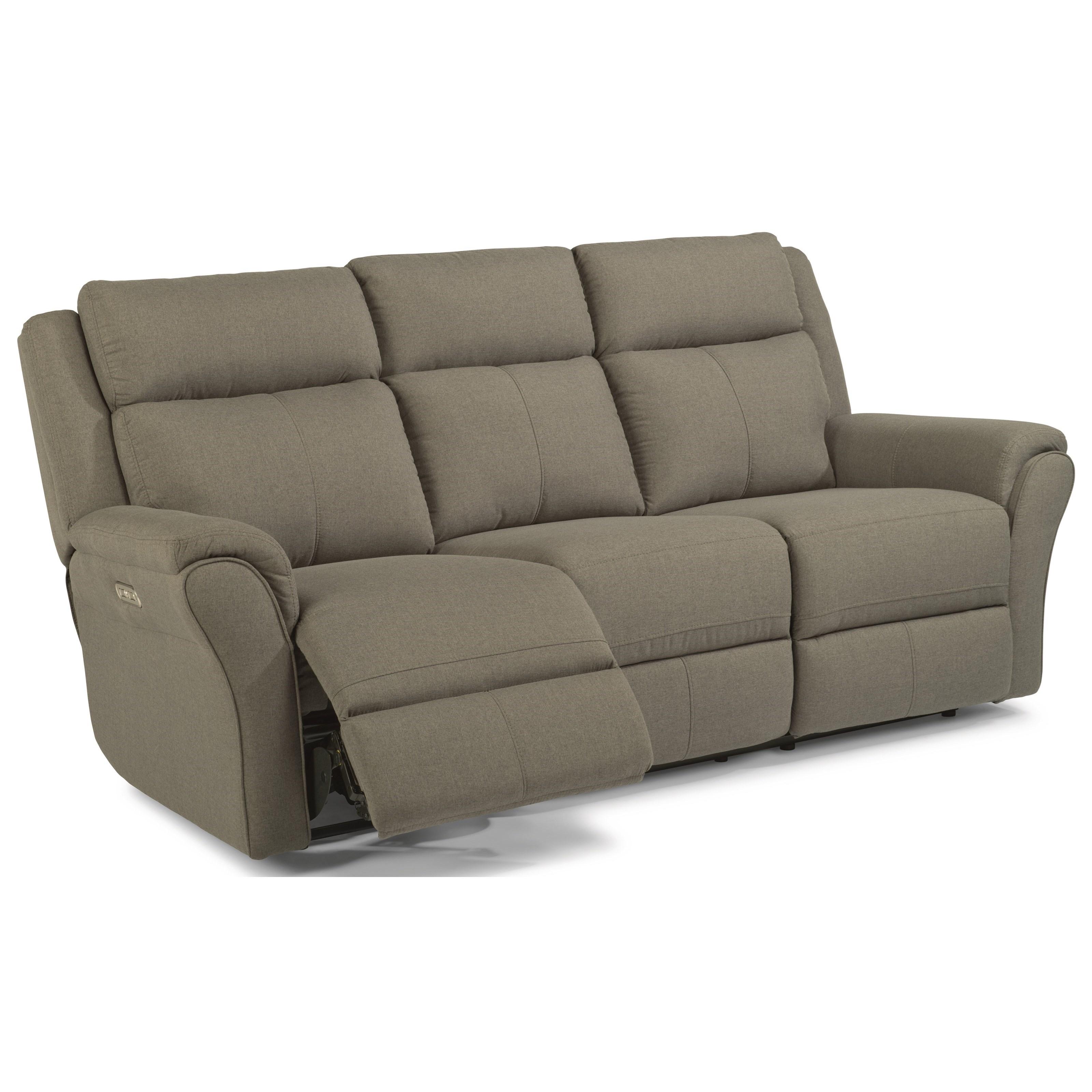 Flexsteel Sofa Bed Mattress: Flexsteel Latitudes-Pike Casual Power Reclining Sofa With