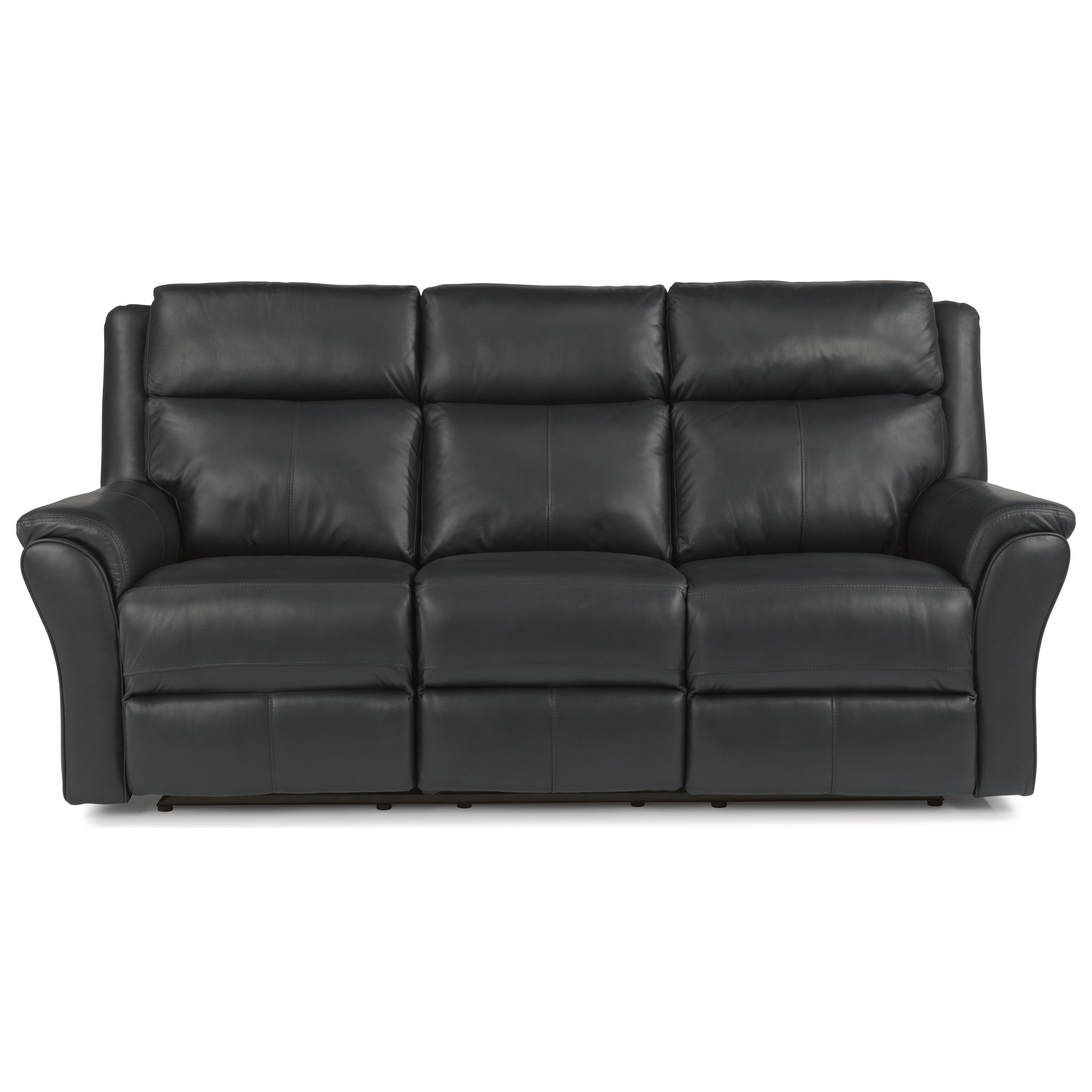 Power Reclining Leather Match Sofa