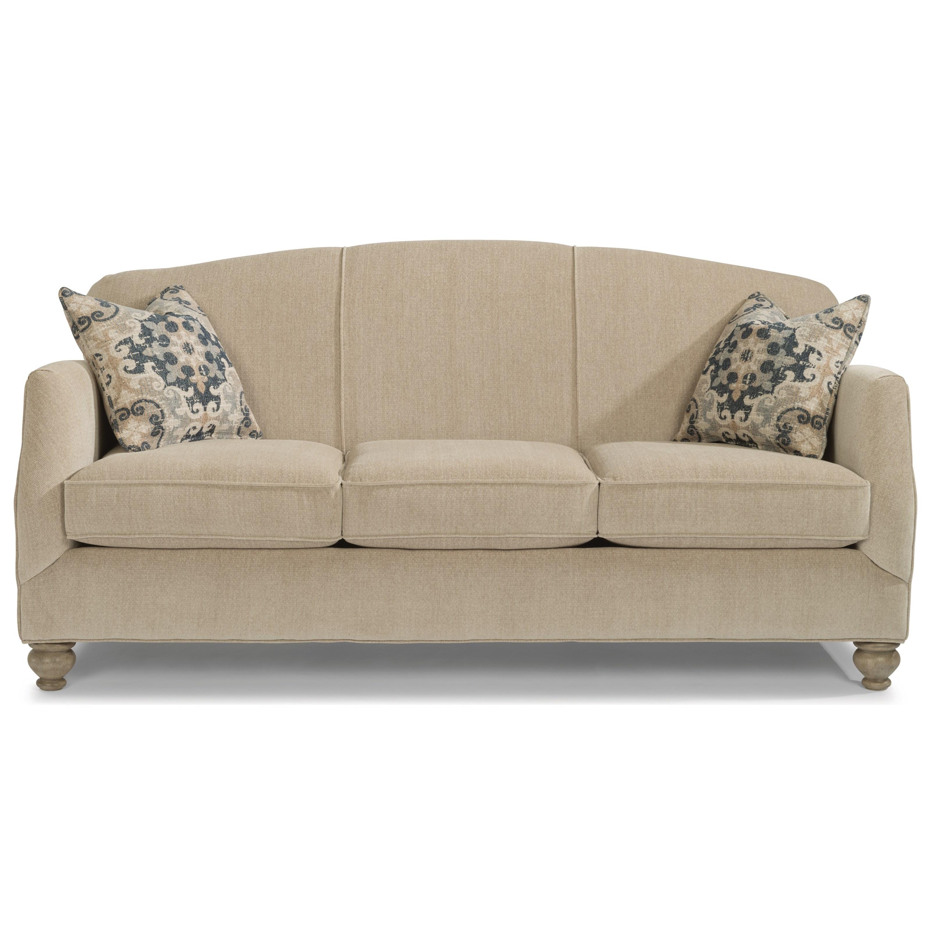 Flexsteel Plymouth 5362 31 Transitional Sofa With Bun Feet