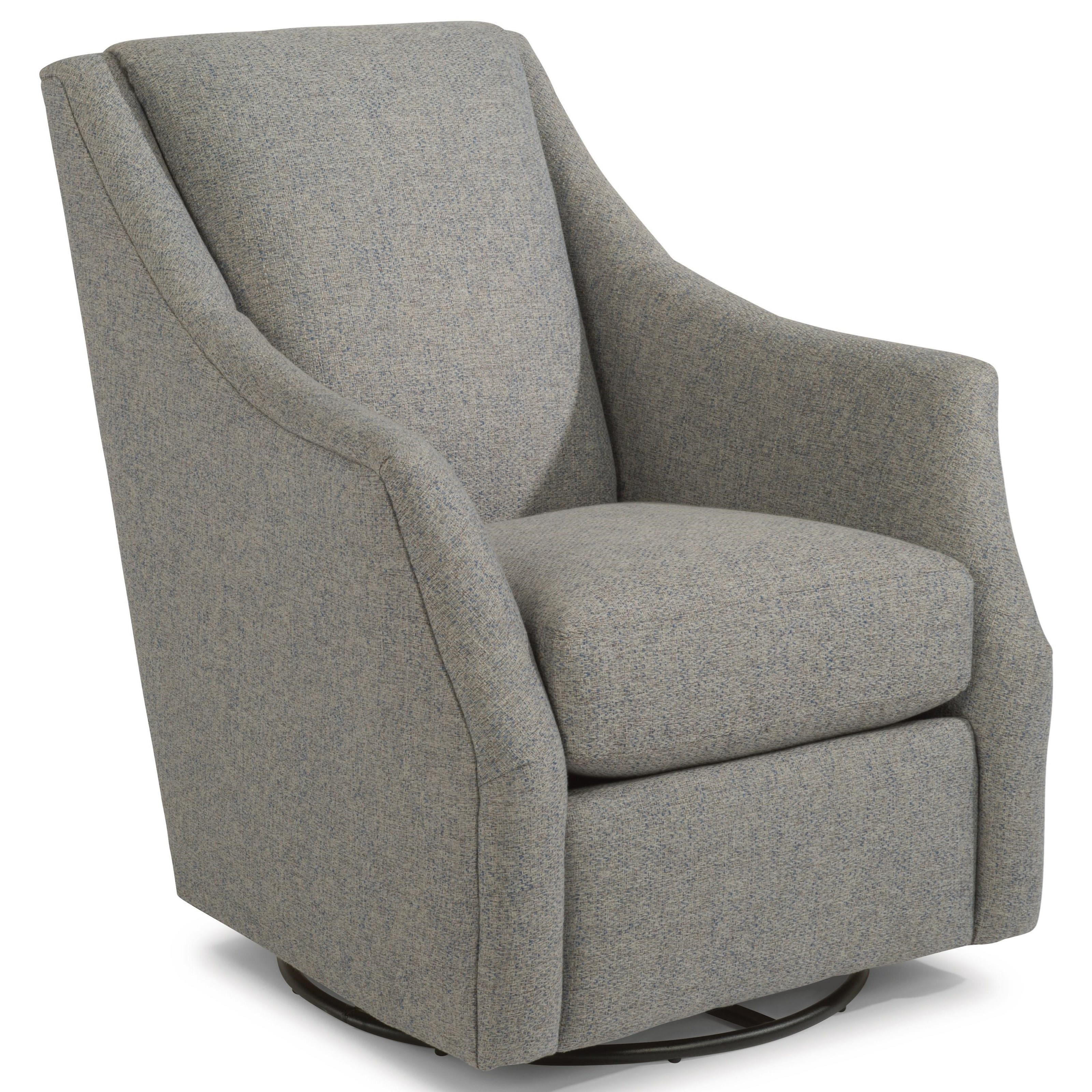 Plymouth Swivel Chair by Flexsteel at HomeWorld Furniture