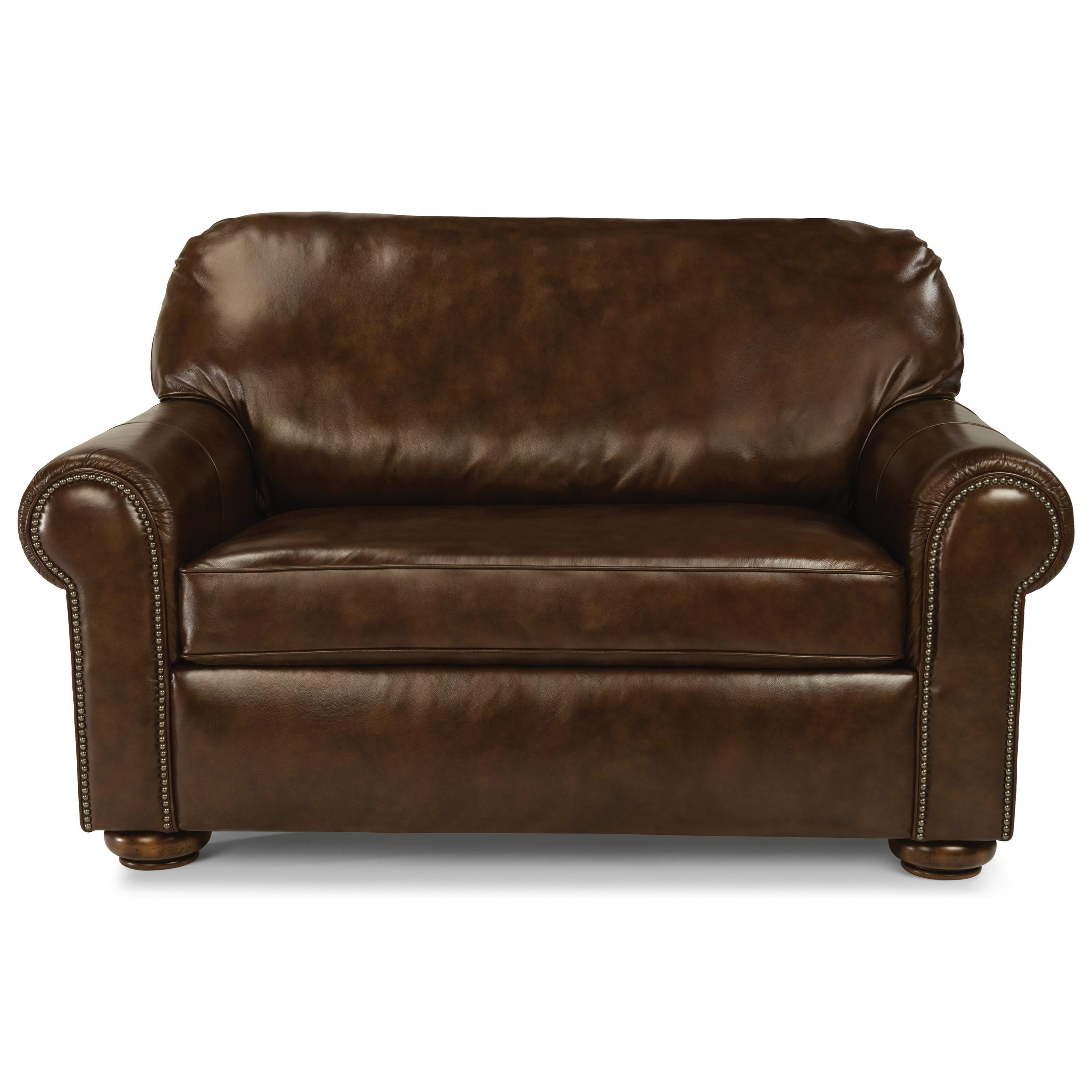 - Flexsteel Preston Traditional Twin Sleeper Sofa With Nailhead Trim