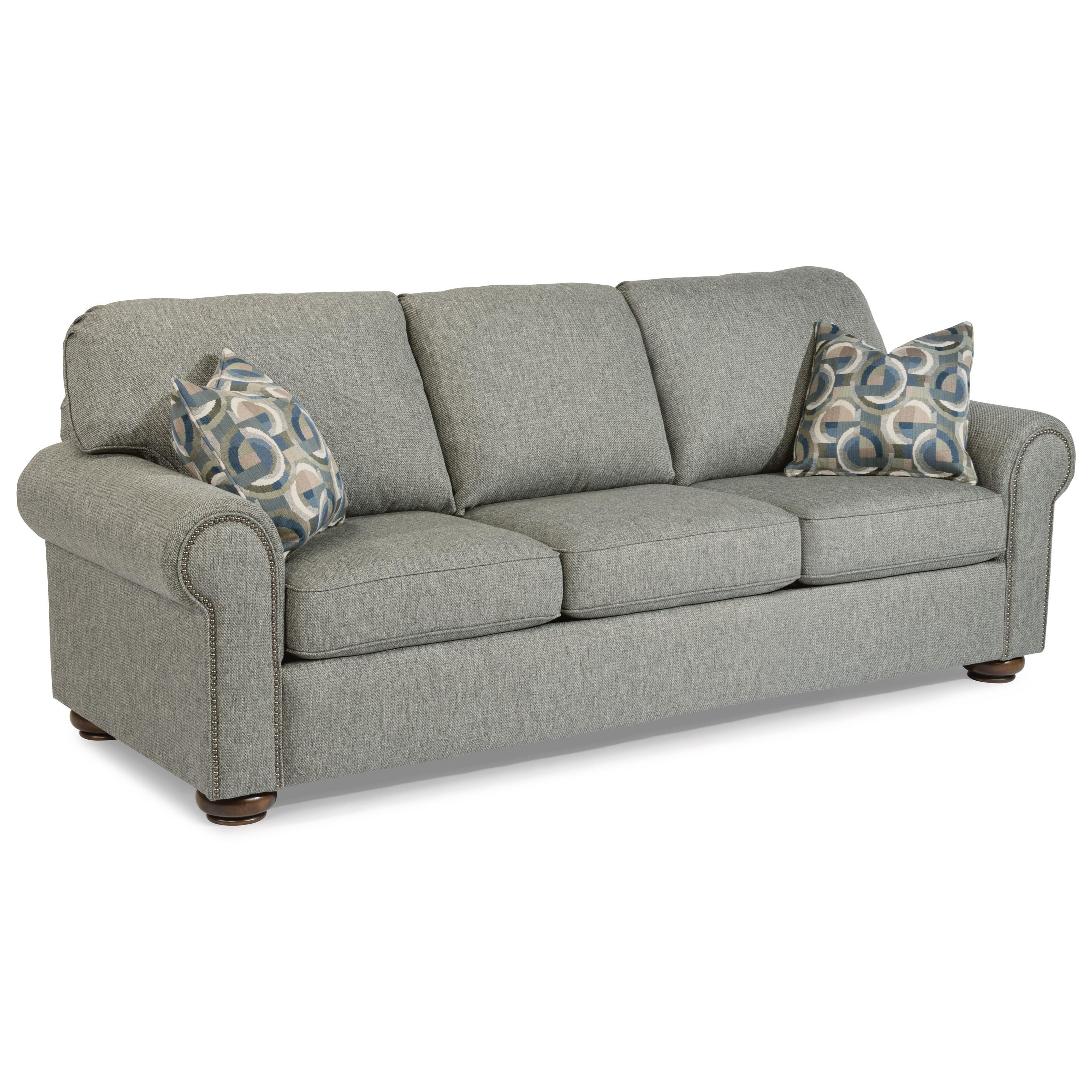 Flexsteel Sofa Bed Mattress: Flexsteel Preston Traditional Queen Sleeper Sofa With