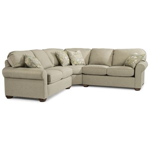 Traditional 4 Seat Sectional Sofa