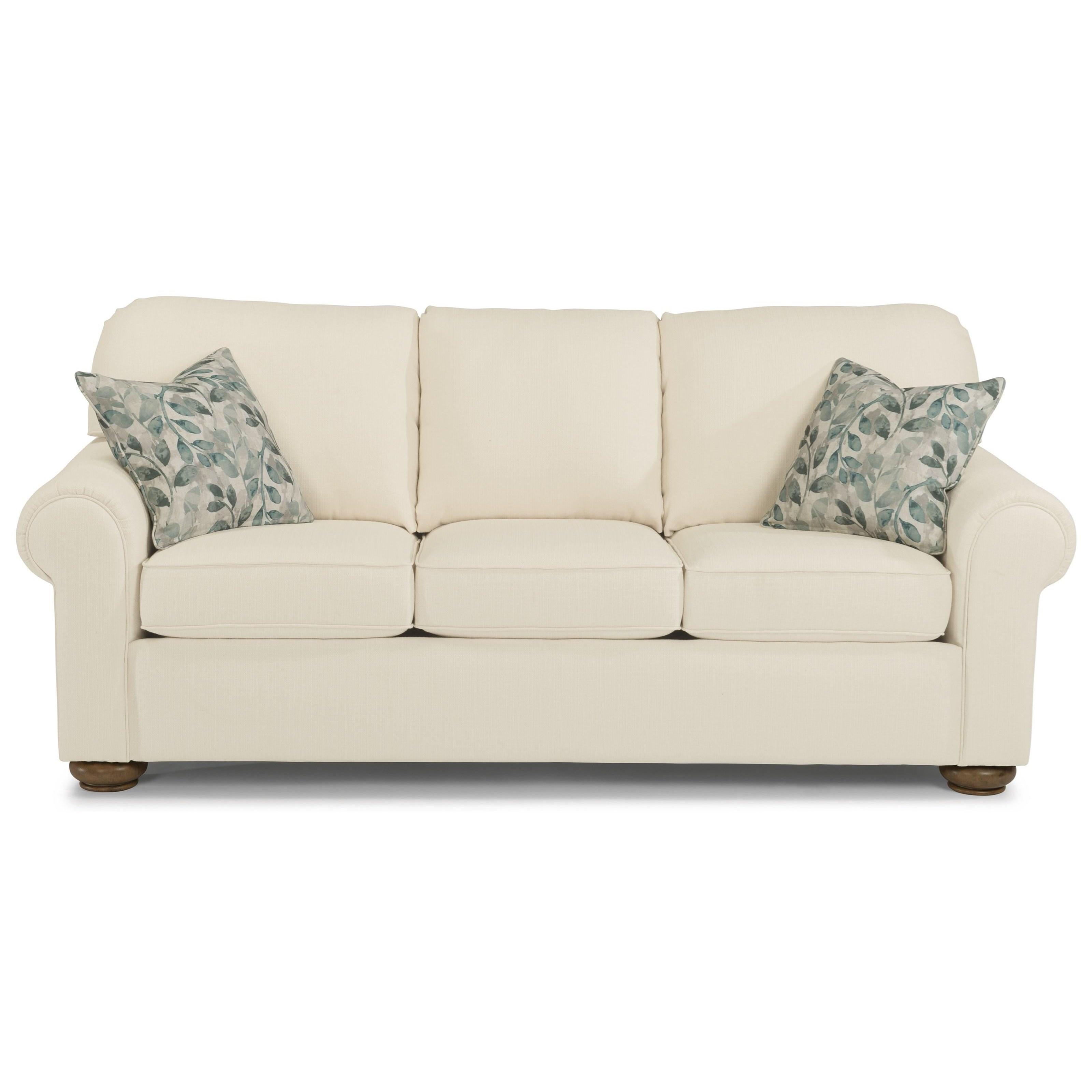 Flexsteel Preston 5538 31 Traditional Sofa With Rolled
