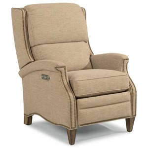 Flexsteel Priscilla Power High-Leg Recliner with Power Headrest