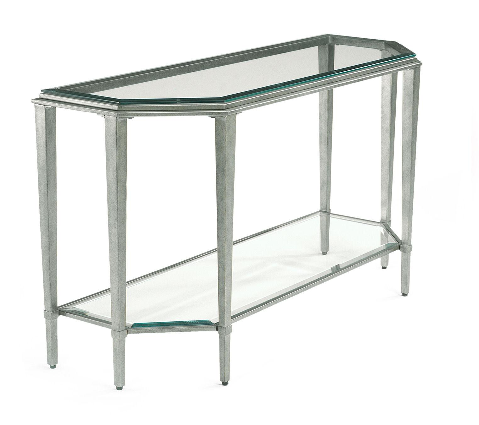 Flexsteel Prism Contemporary Glass Sofa Table