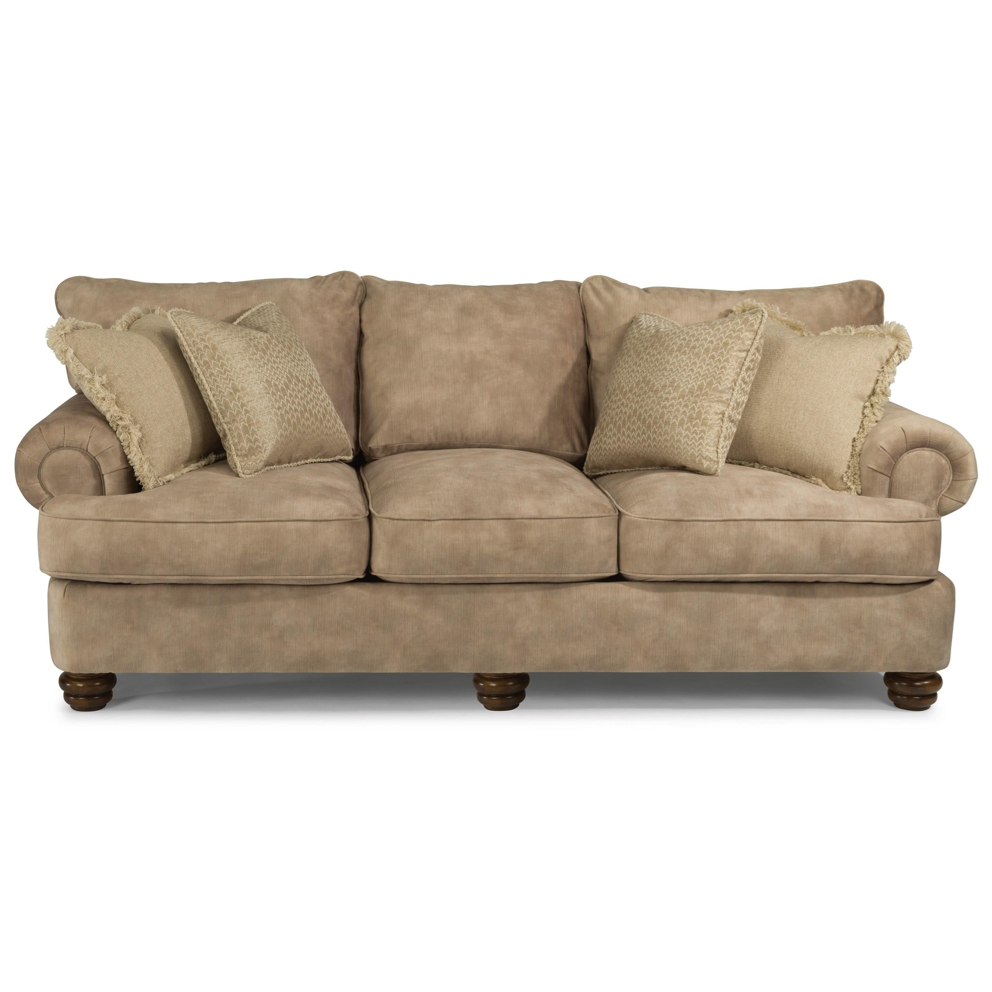 American Furniture Providence Sectional: Flexsteel Providence Traditional Sofa With Bun Feet