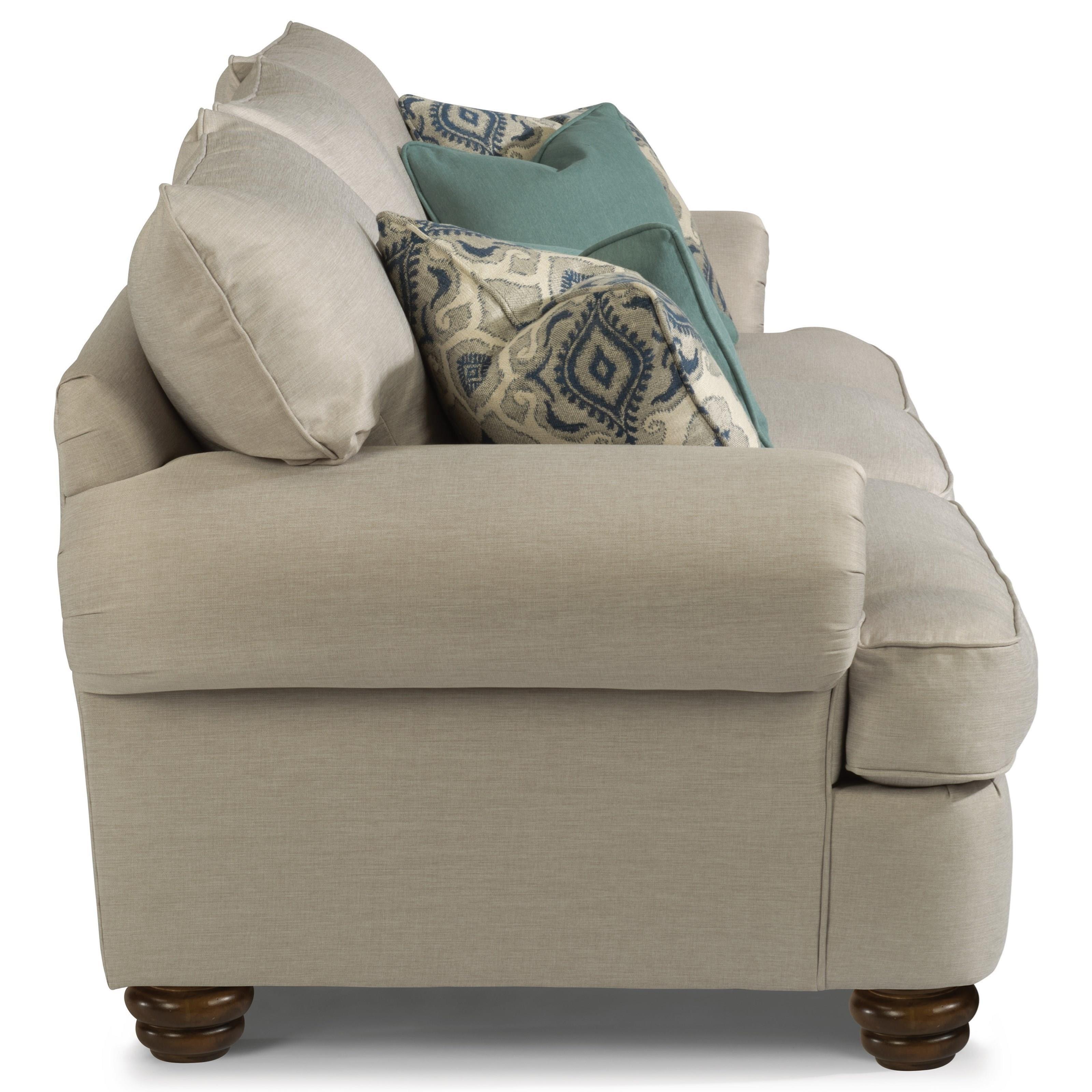 Flexsteel Sofa Bed Mattress: Flexsteel Providence Traditional Sofa With Bun Feet