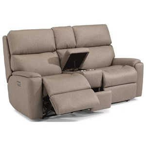 Power Reclining Loveseat with Console and PH