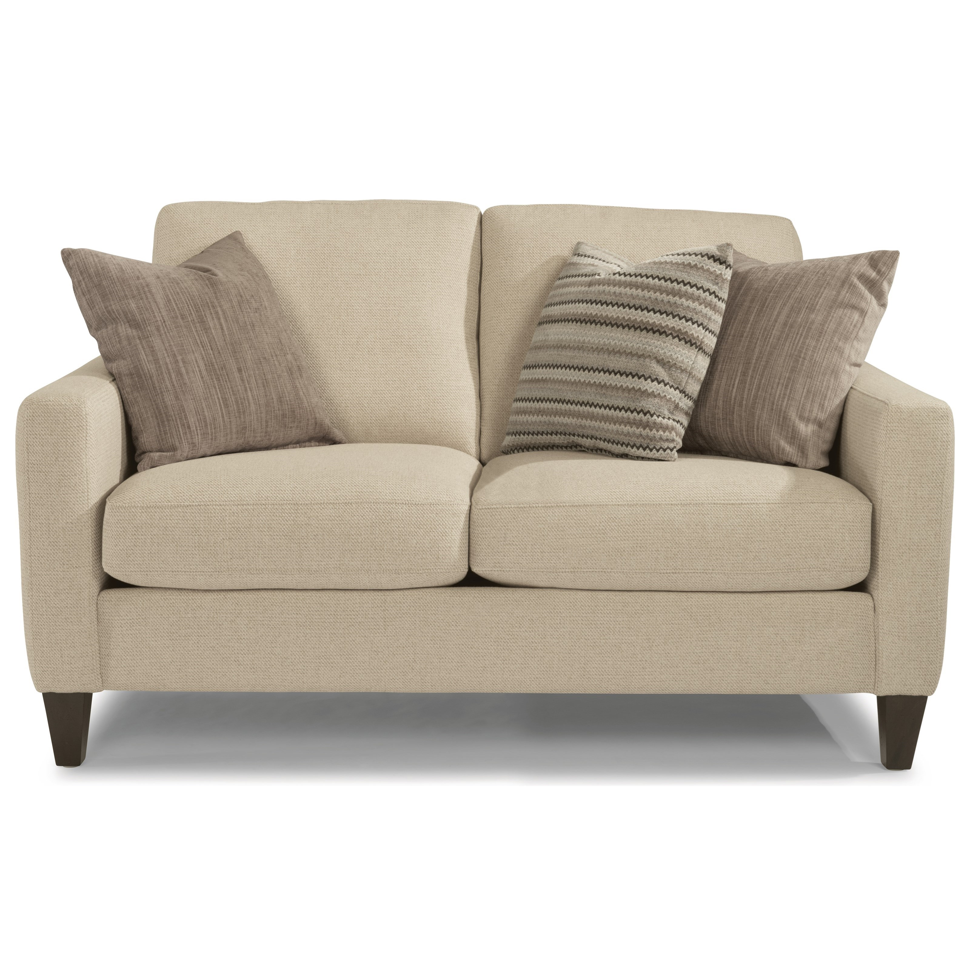 River Contemporary Loveseat with Track Arms by Flexsteel at Crowley  Furniture & Mattress