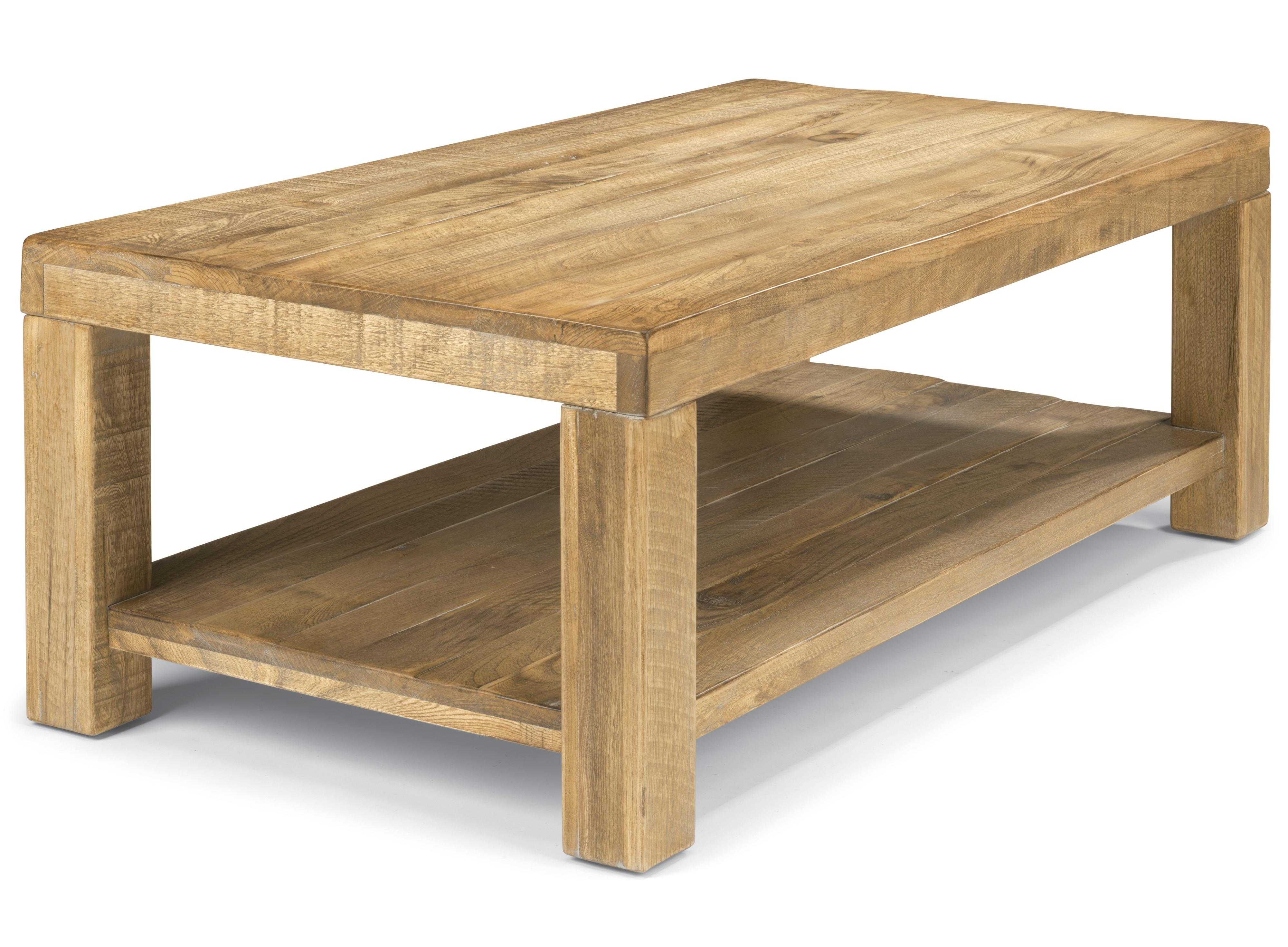 Flexsteel Sawyer Rectangular Cocktail Table with Block Legs