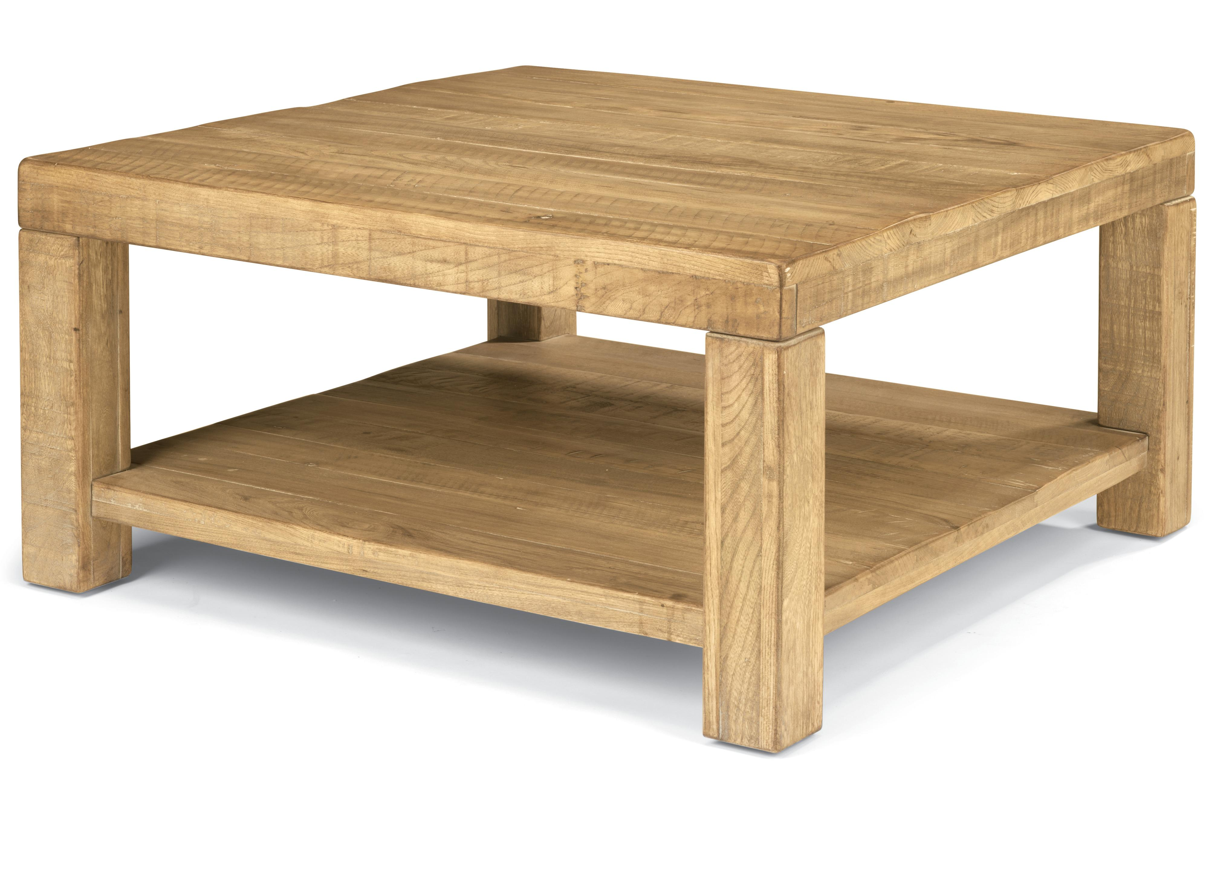 Flexsteel Sawyer Square Cocktail Table With Block Legs Wayside Furniture Cocktail Or Coffee