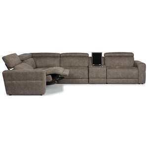 Reclining Sectional with Power Headrests