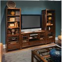 Flexsteel Sonoma Entertainment Base with Ample Storage - Shown with Two Piers to Create Entertainment Center