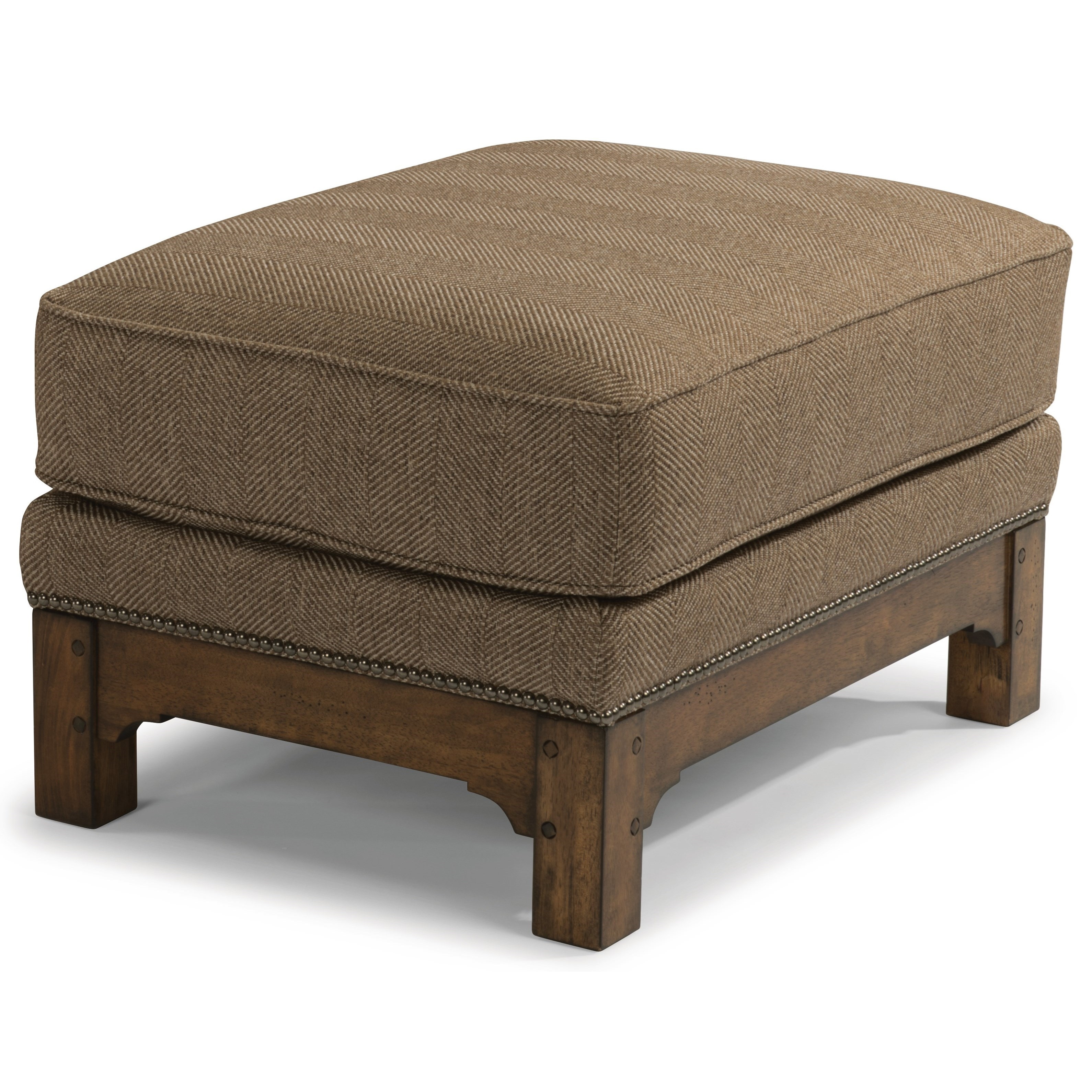 Flexsteel Sofa Mission: Flexsteel Sonora 7944-08 Mission Ottoman With Nailhead