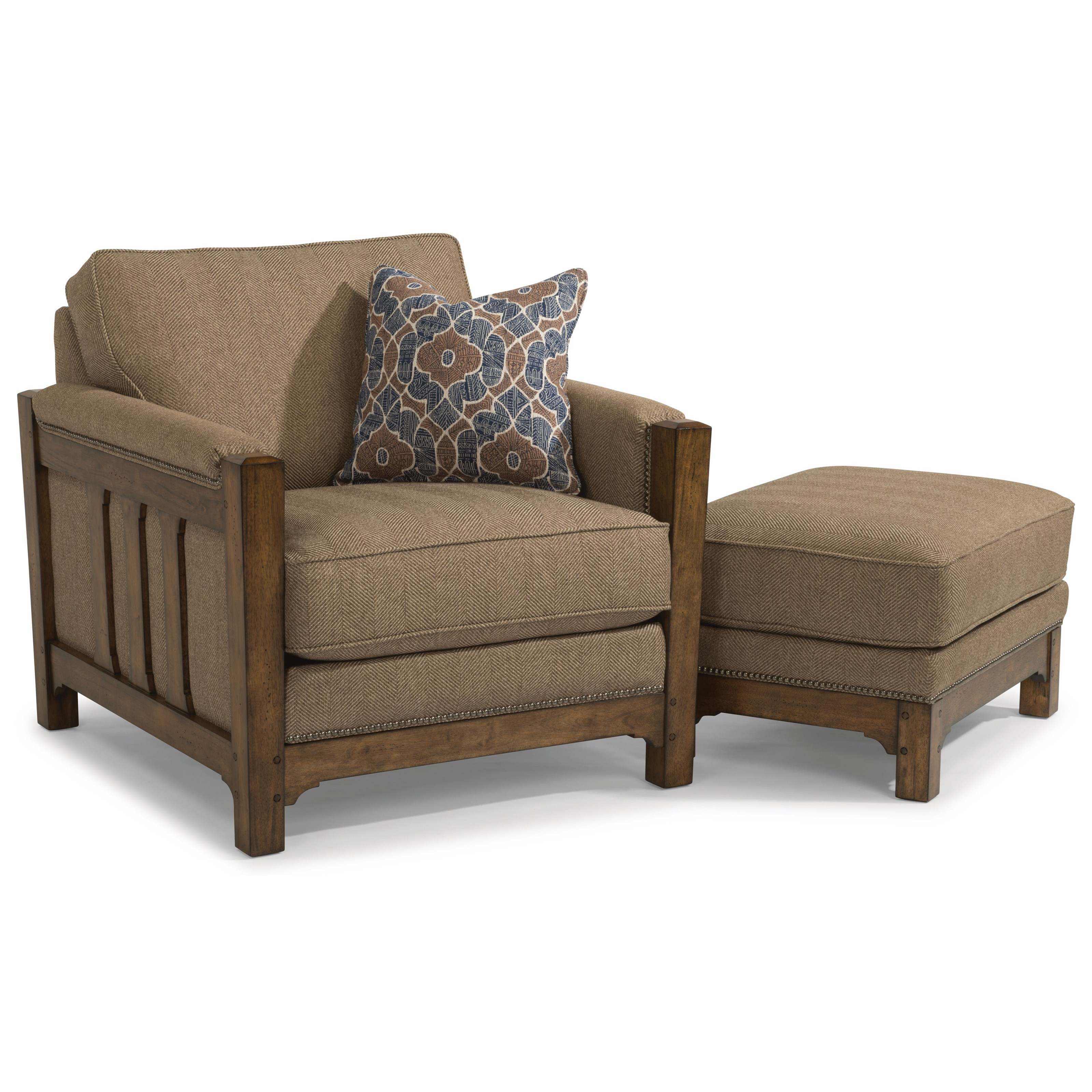 Flexsteel Sofa Mission: Flexsteel Sonora Mission Chair With Nailhead Trim