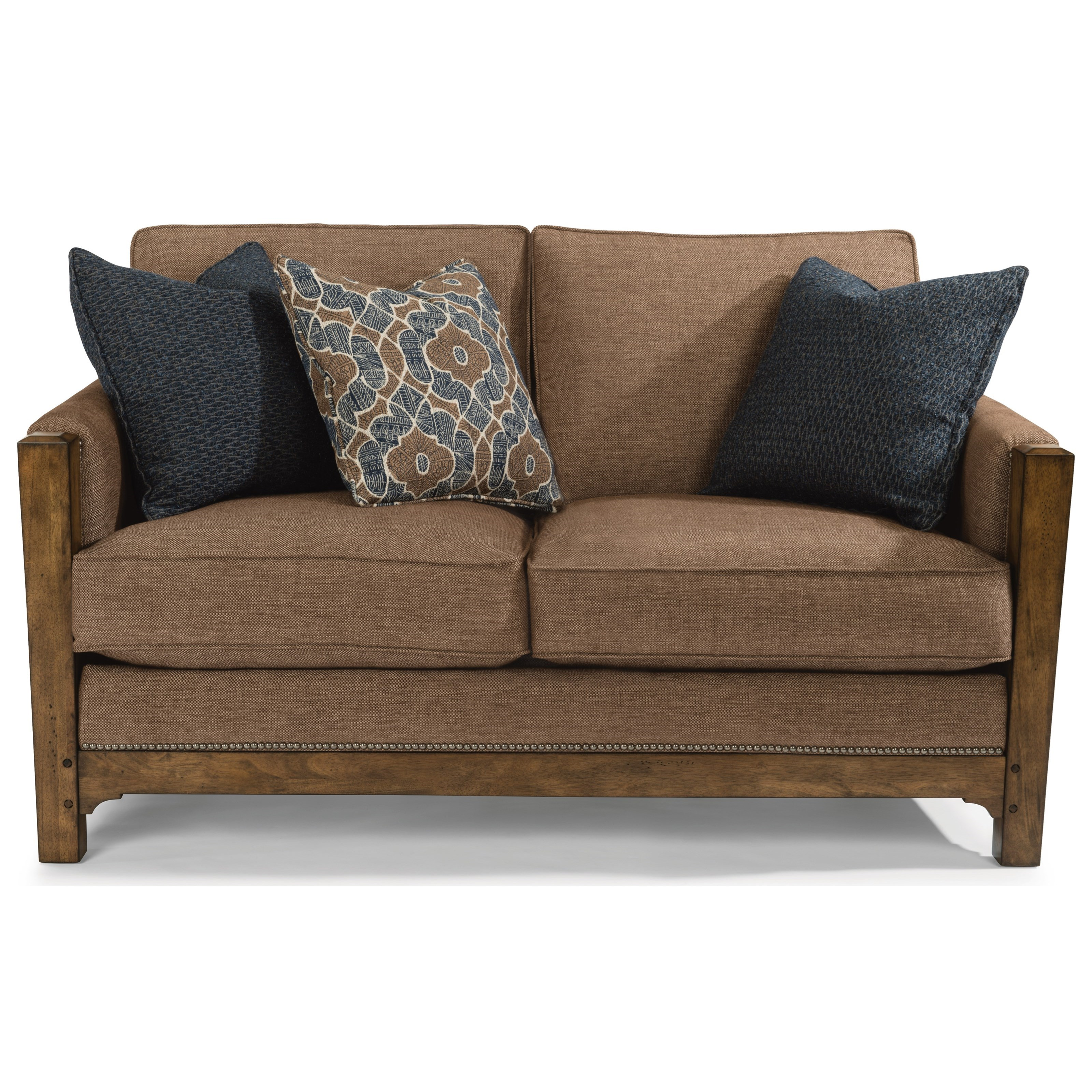 Flexsteel Sofa Mission: Flexsteel Sonora Mission Love Seat With Nailhead Trim