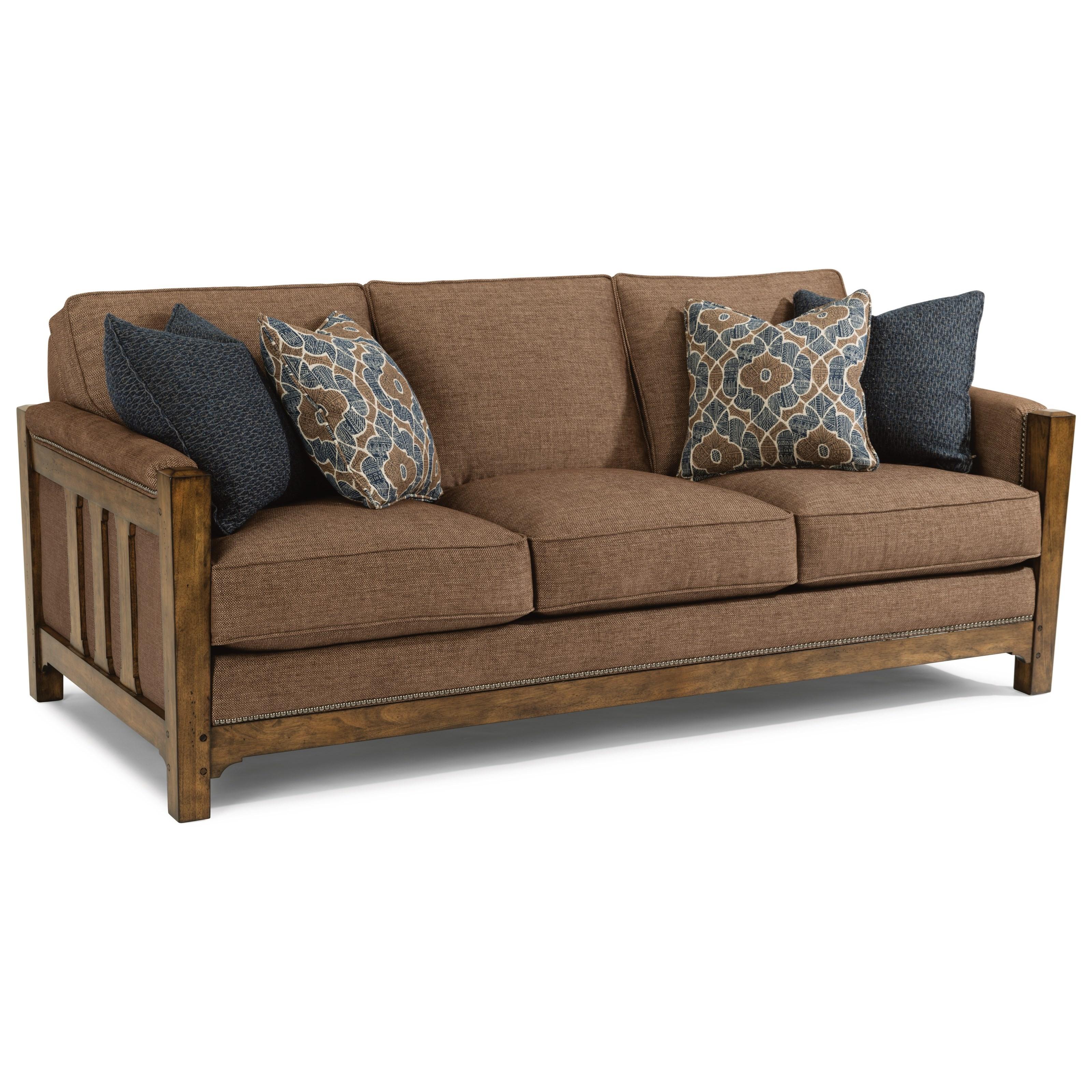 Flexsteel Furniture Telephone Number: Flexsteel Sonora Mission Sofa With Nailhead Trim