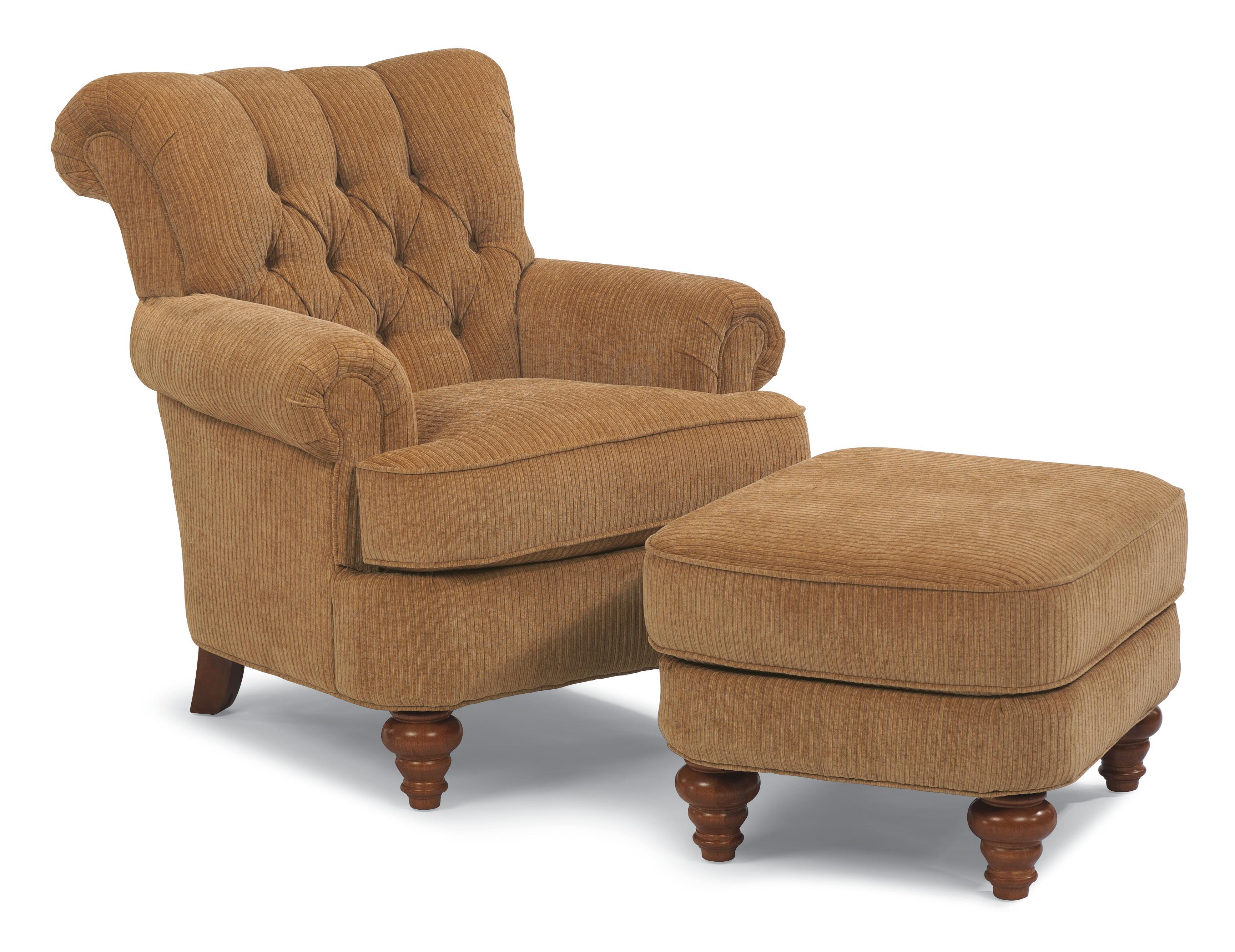 Flexsteel South Hampton South Hampton Chair and Ottoman AHFA
