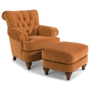 Flexsteel South Hampton South Hampton Chair and Ottoman