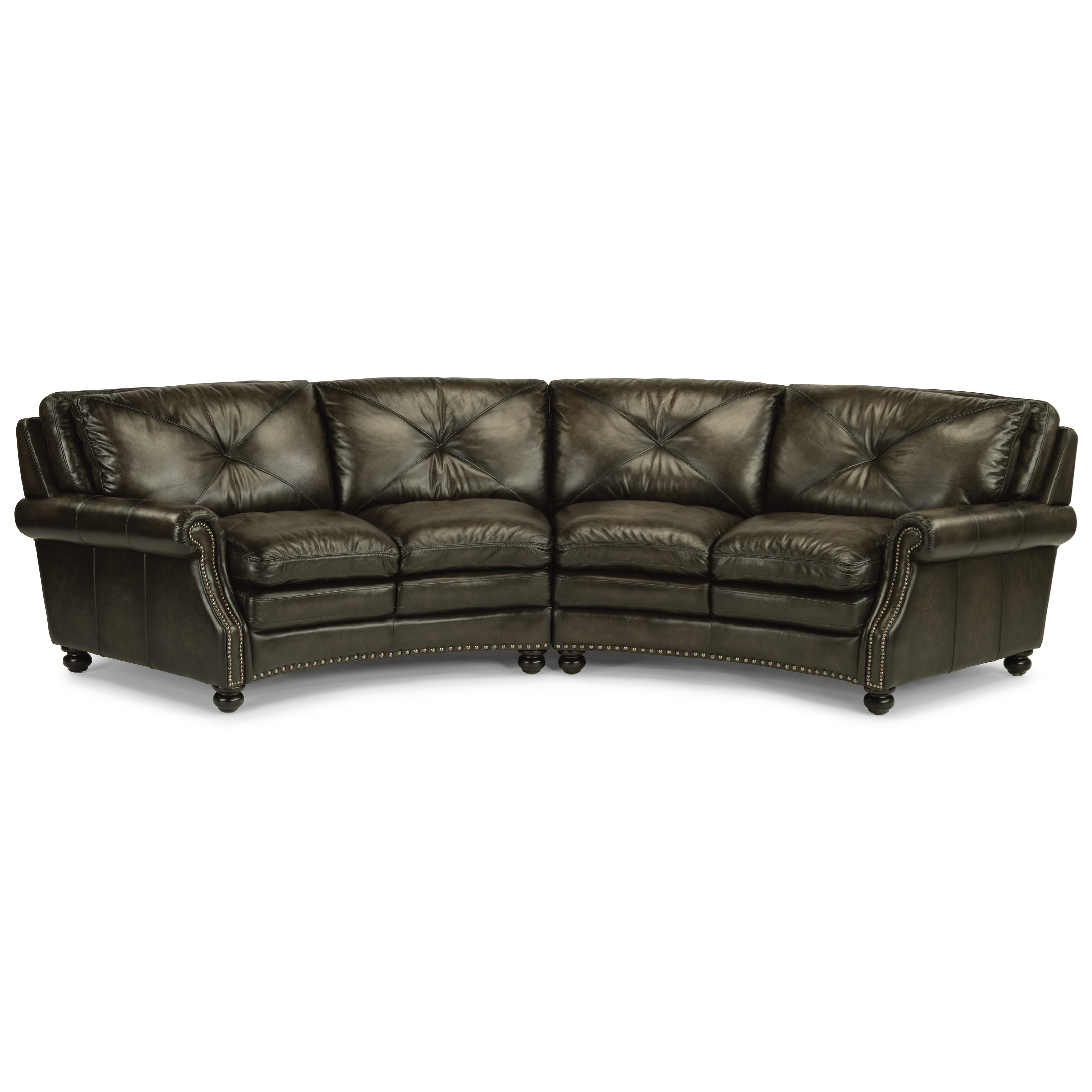 Flexsteel Sofa Locations: Flexsteel Latitudes-Suffolk Round Sectional Sofa With