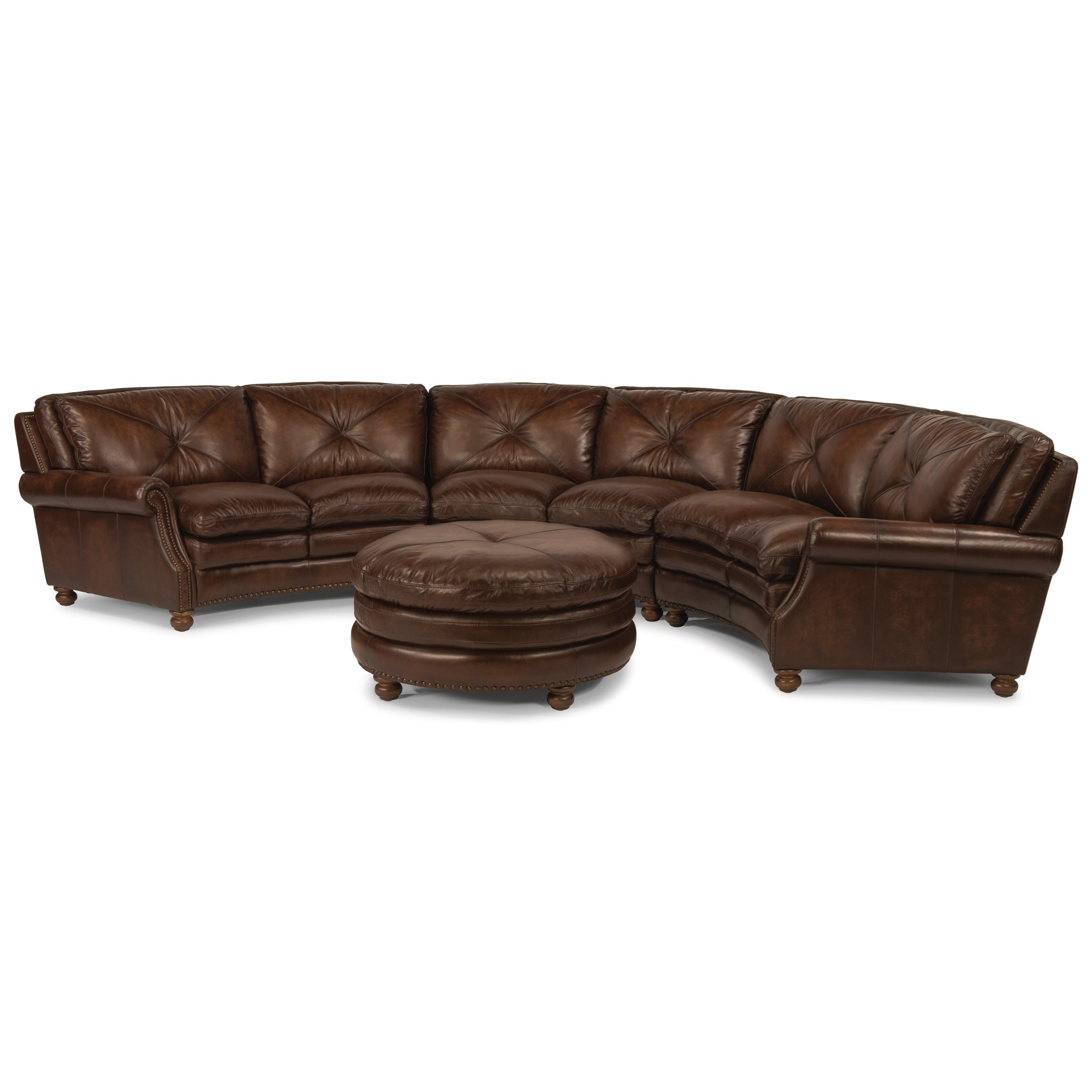 Flexsteel Latitudes-Suffolk Round Sectional Sofa With