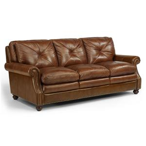 Flexsteel Latitudes-Suffolk Leather Stationary Sofa
