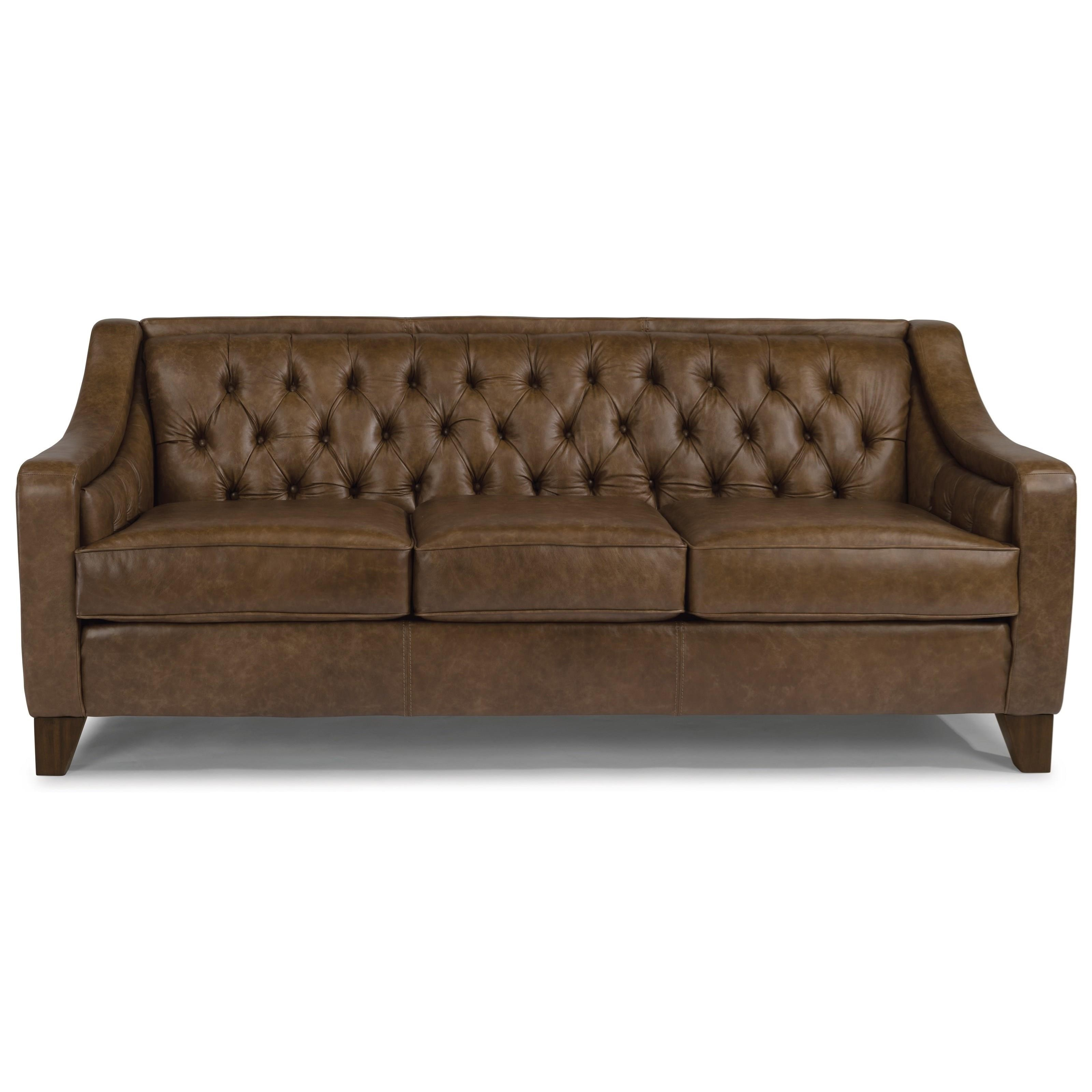 Flexsteel Sullivan Contemporary Sofa With Tufted Back