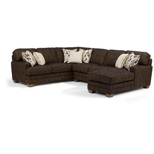 Flexsteel Thatu0027s My Style Custom 3 Piece Sectional Sofa  sc 1 st  Furniture Dealer Locator - Find your furniture : meyer sectional sofa - Sectionals, Sofas & Couches