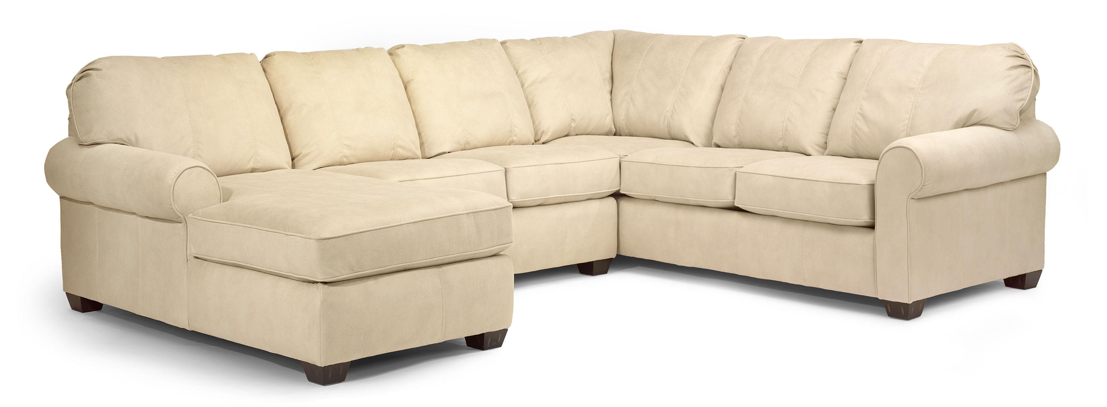 Flexsteel Thornton 3 Piece Sectional with Chaise Dunk & Bright