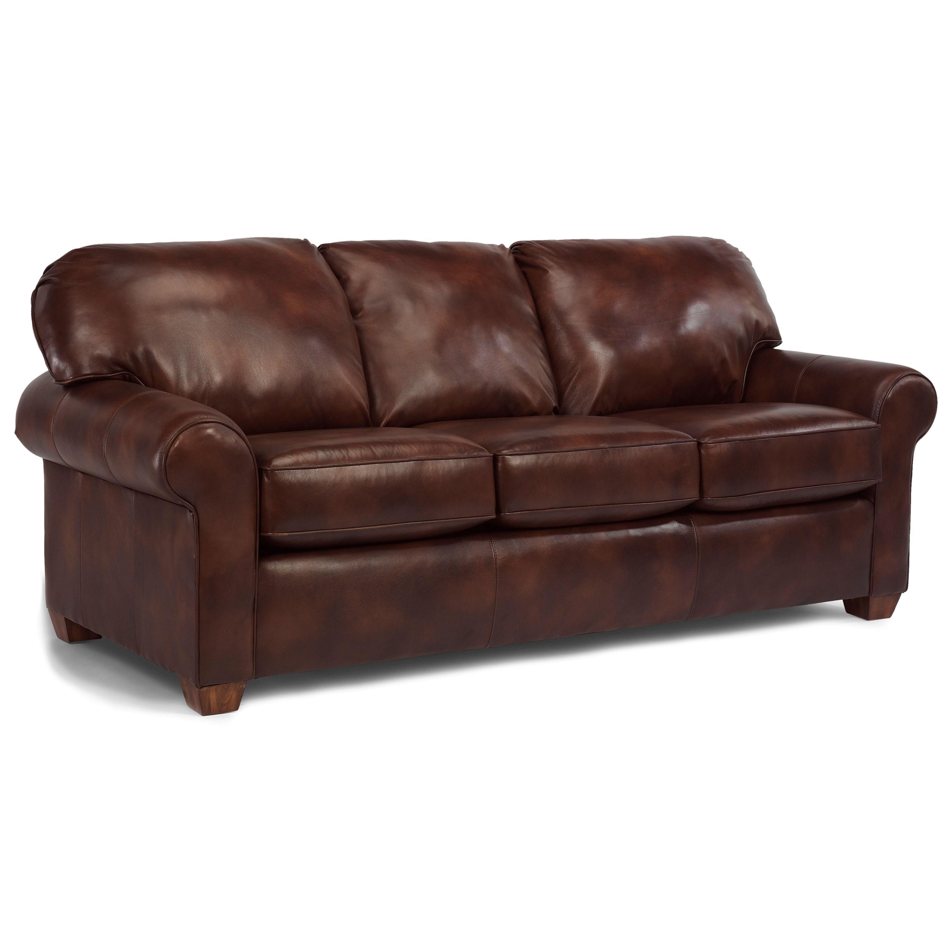 Flexsteel Thornton Stationary Upholstered Sofa Knight Furniture Mattress Sofas