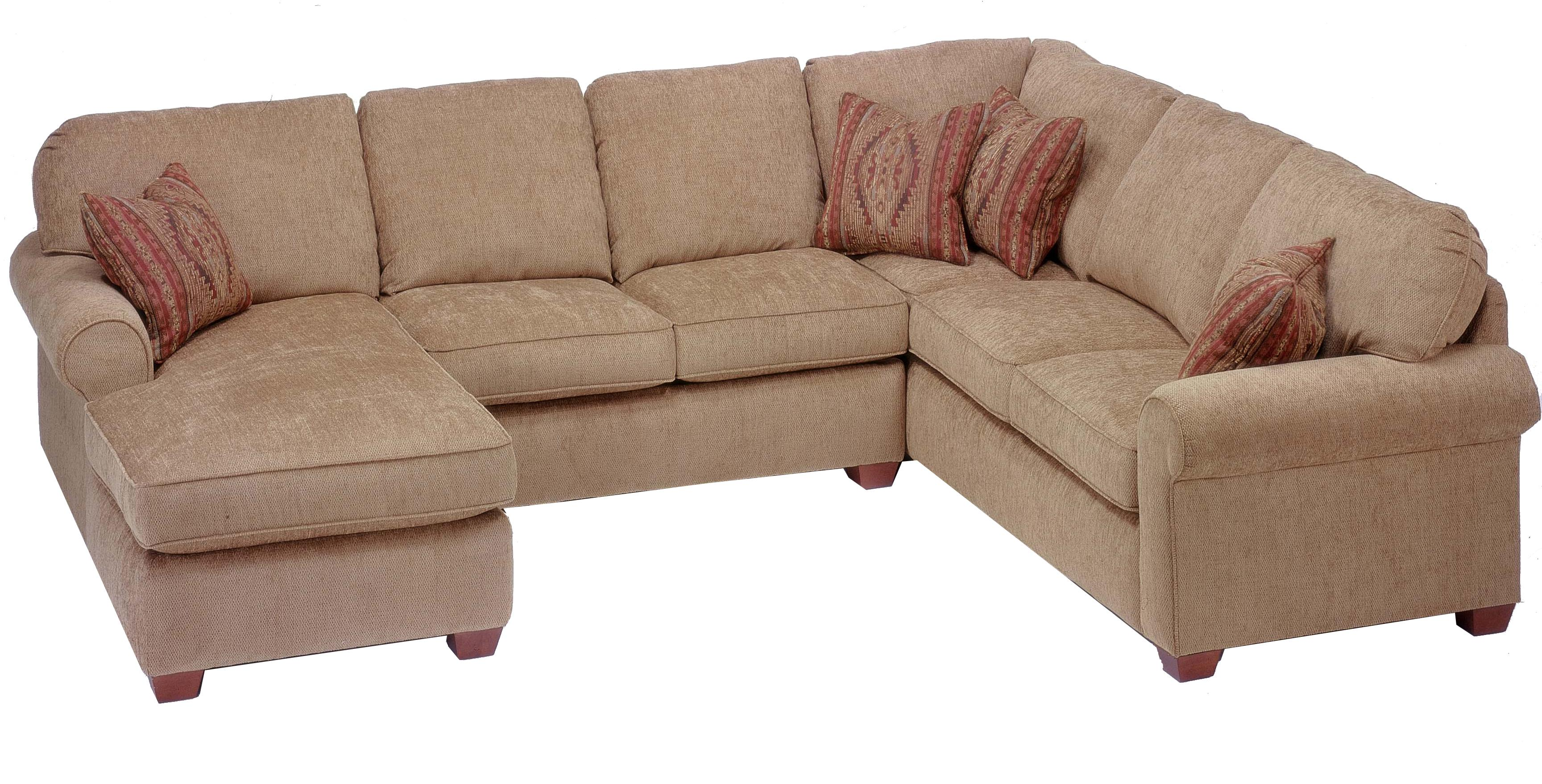 Flexsteel Thornton 3 Piece Sectional with Chaise AHFA Sofa