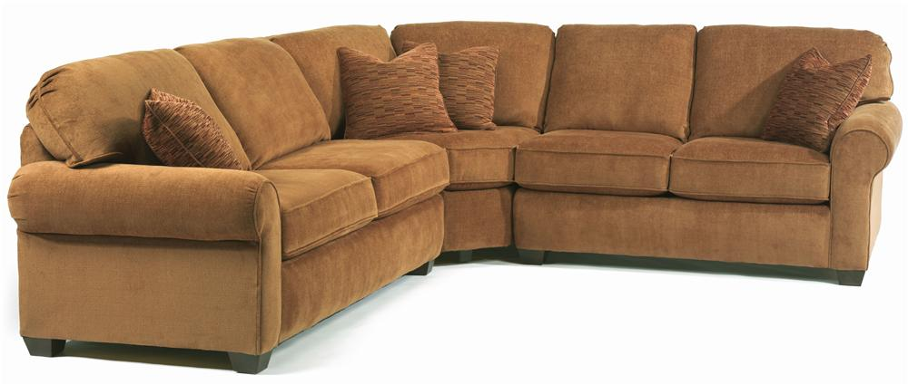 Flexsteel Thornton  Sectional - Item Number: 5535-45+23+28