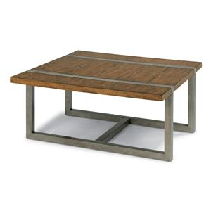 Flexsteel Trestle Square Cocktail Table