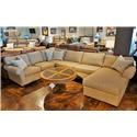 Flexsteel Vail Three Piece Sectional with Chaise - Item Number: 3305-26+29+33