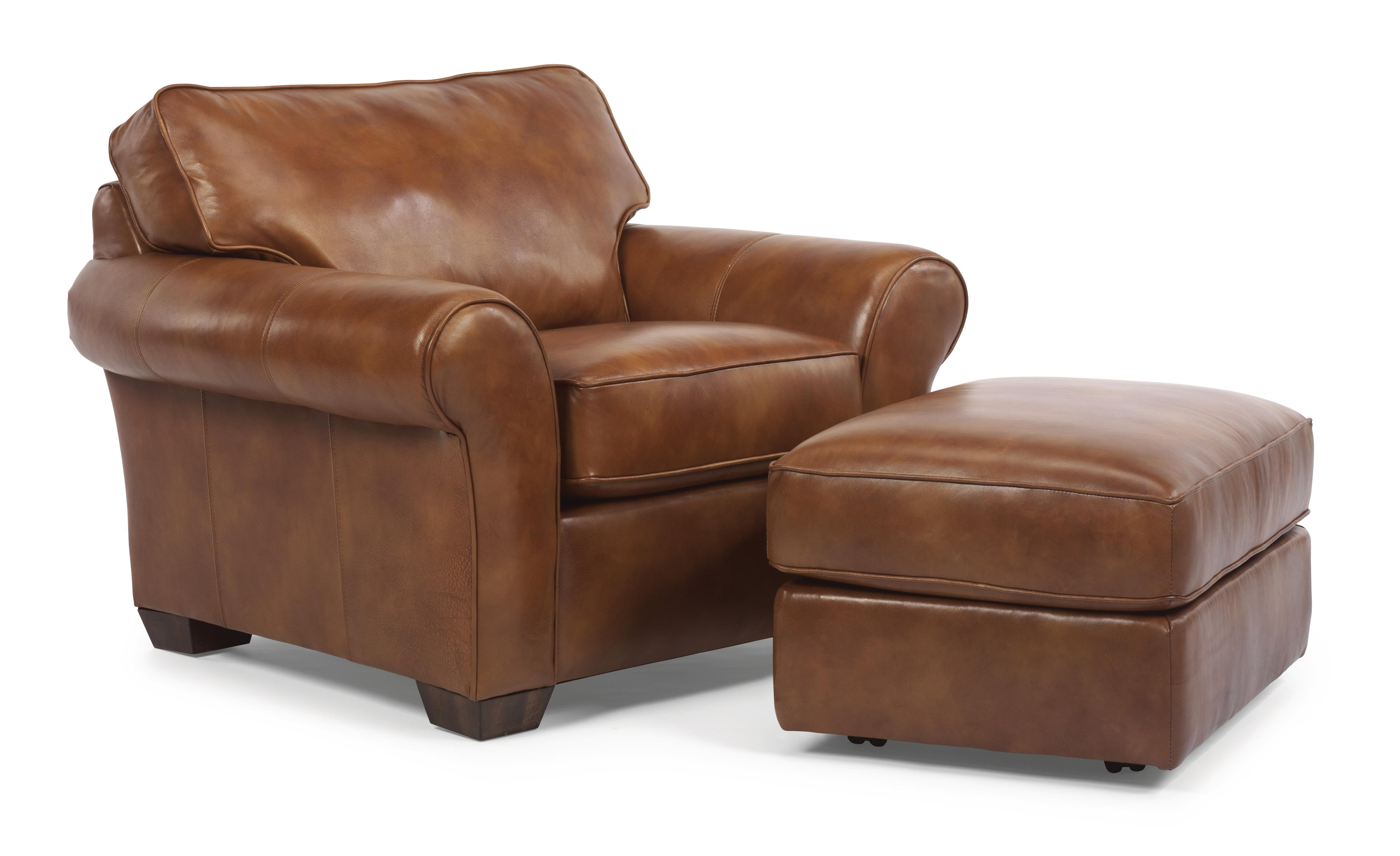 Flexsteel Vail Vail Chair And Ottoman Dunk Amp Bright