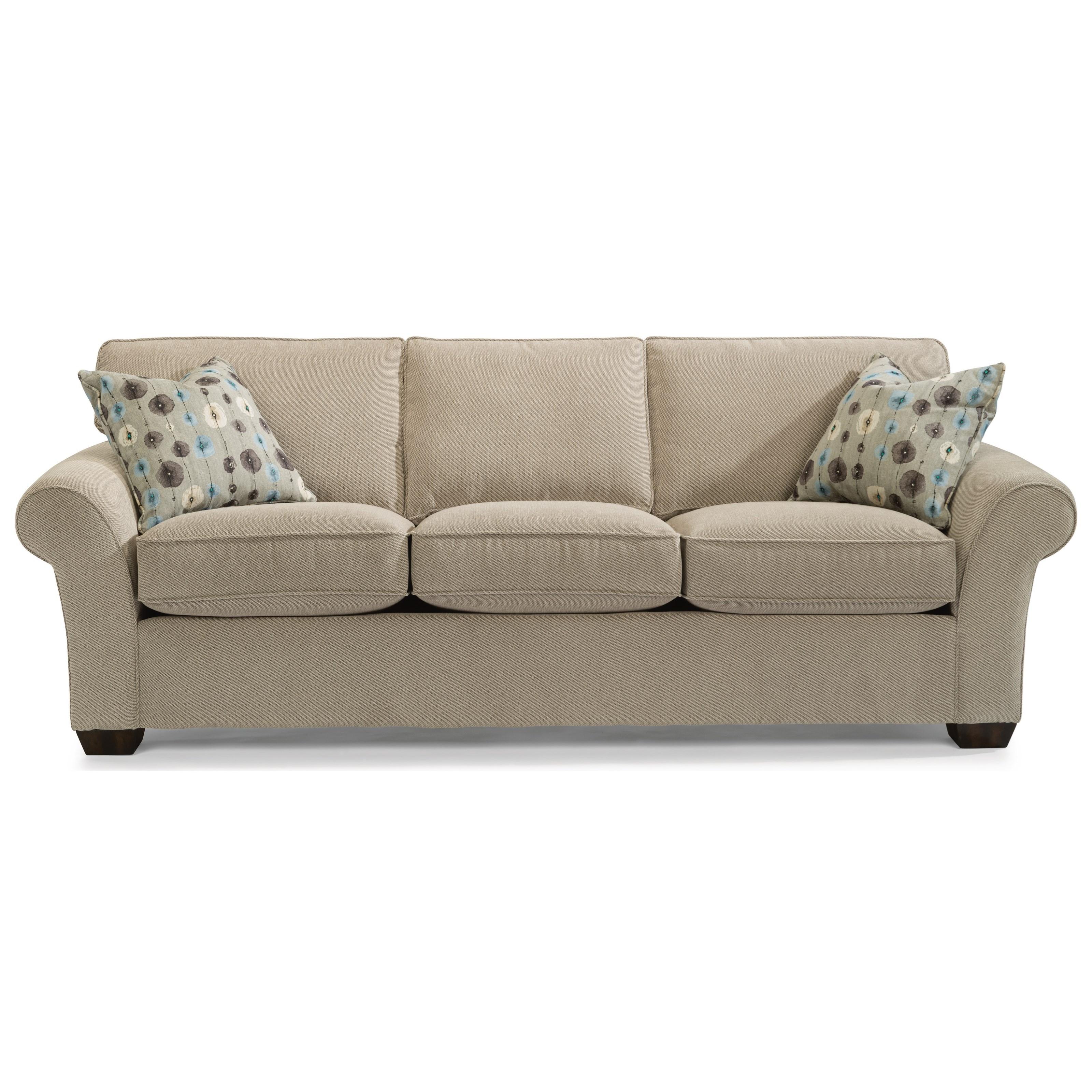 "Flexsteel Wrangler Sofa: Flexsteel Vail 7305-31 91"" Vail Three Cushion Sofa"