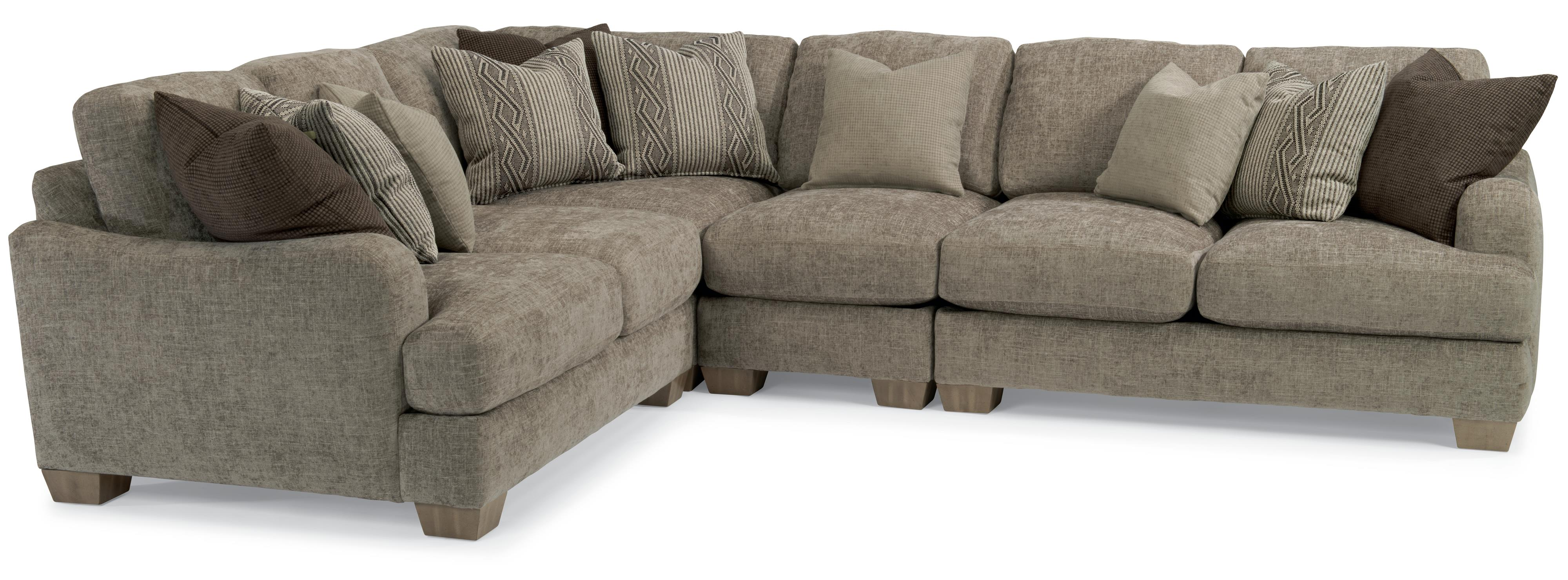 Flexsteel Vanessa Sectional Sofa with Loose Pillow Back Wayside