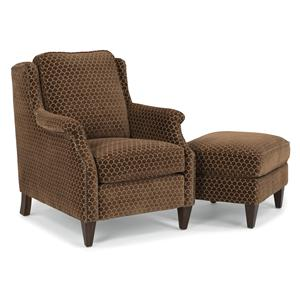 Flexsteel Zevon Chair and Ottoman