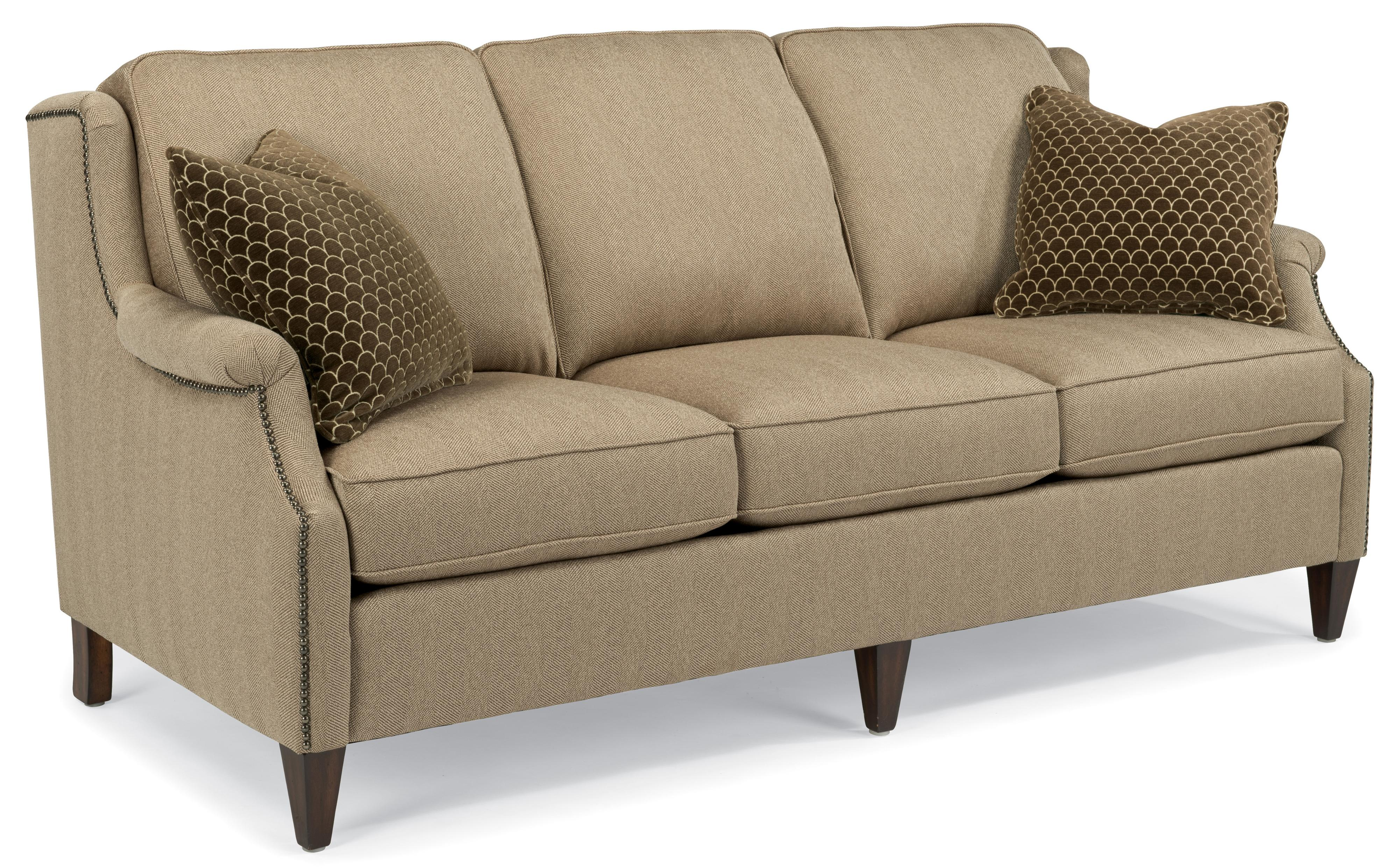 Flexsteel Zevon Transitional Sofa With Slender English